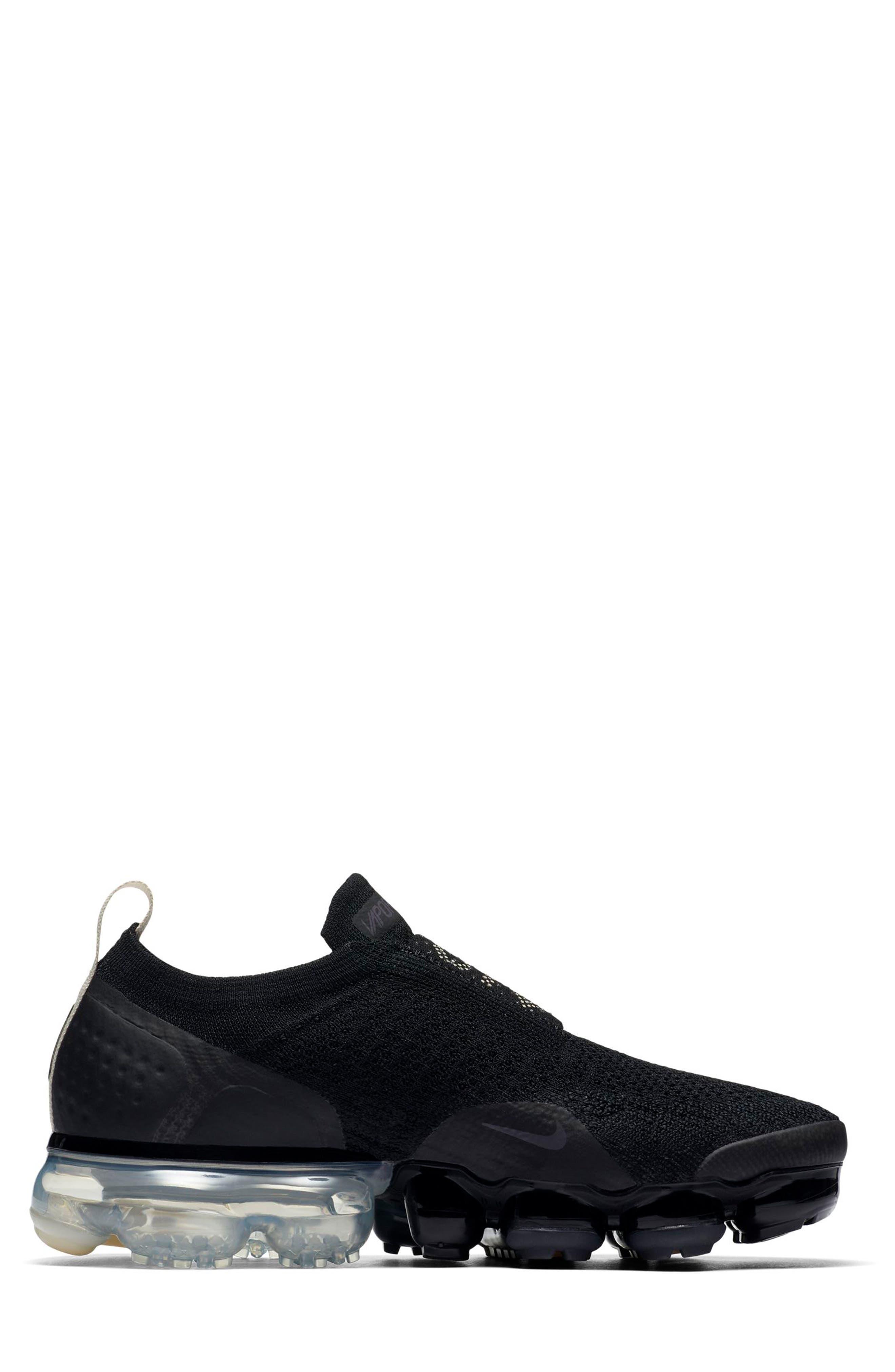 Air VaporMax Flyknit MOC 2 Running Shoe,                             Alternate thumbnail 7, color,                             BLACK