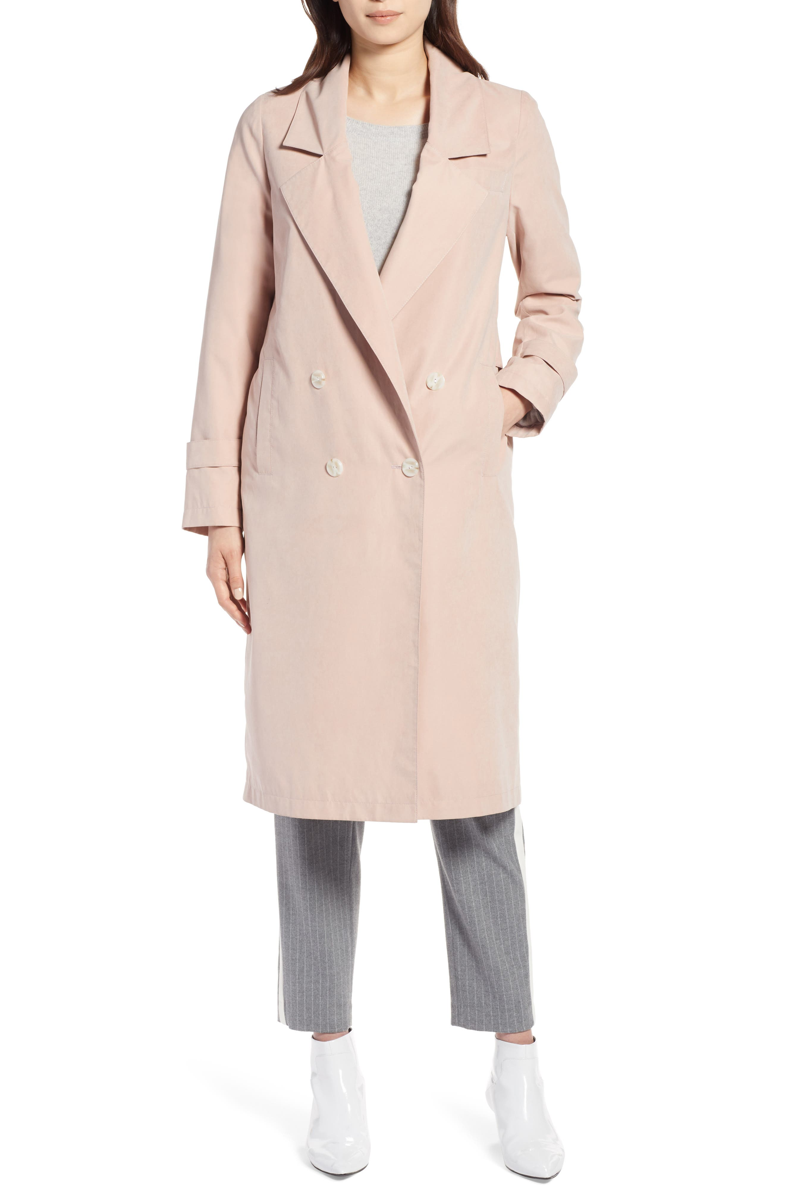 Double Breasted Trench Coat,                             Alternate thumbnail 4, color,                             680