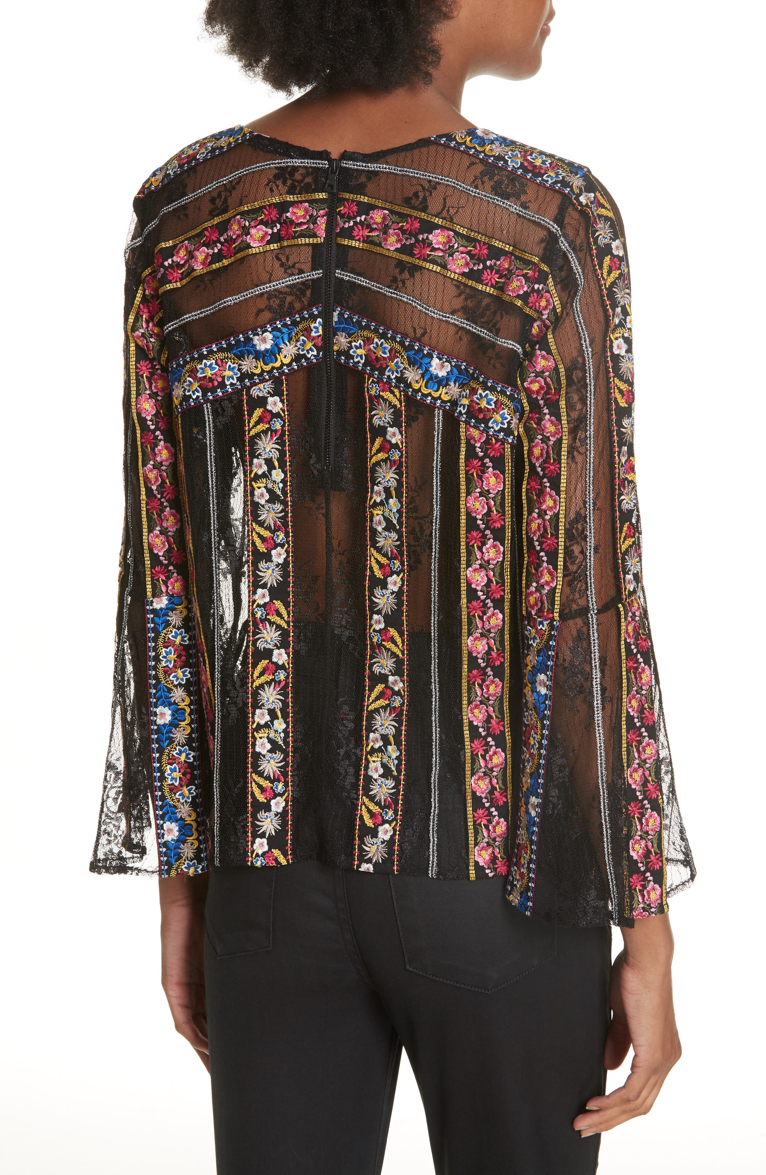 Larue Embroidered Blouse,                             Alternate thumbnail 2, color,                             019