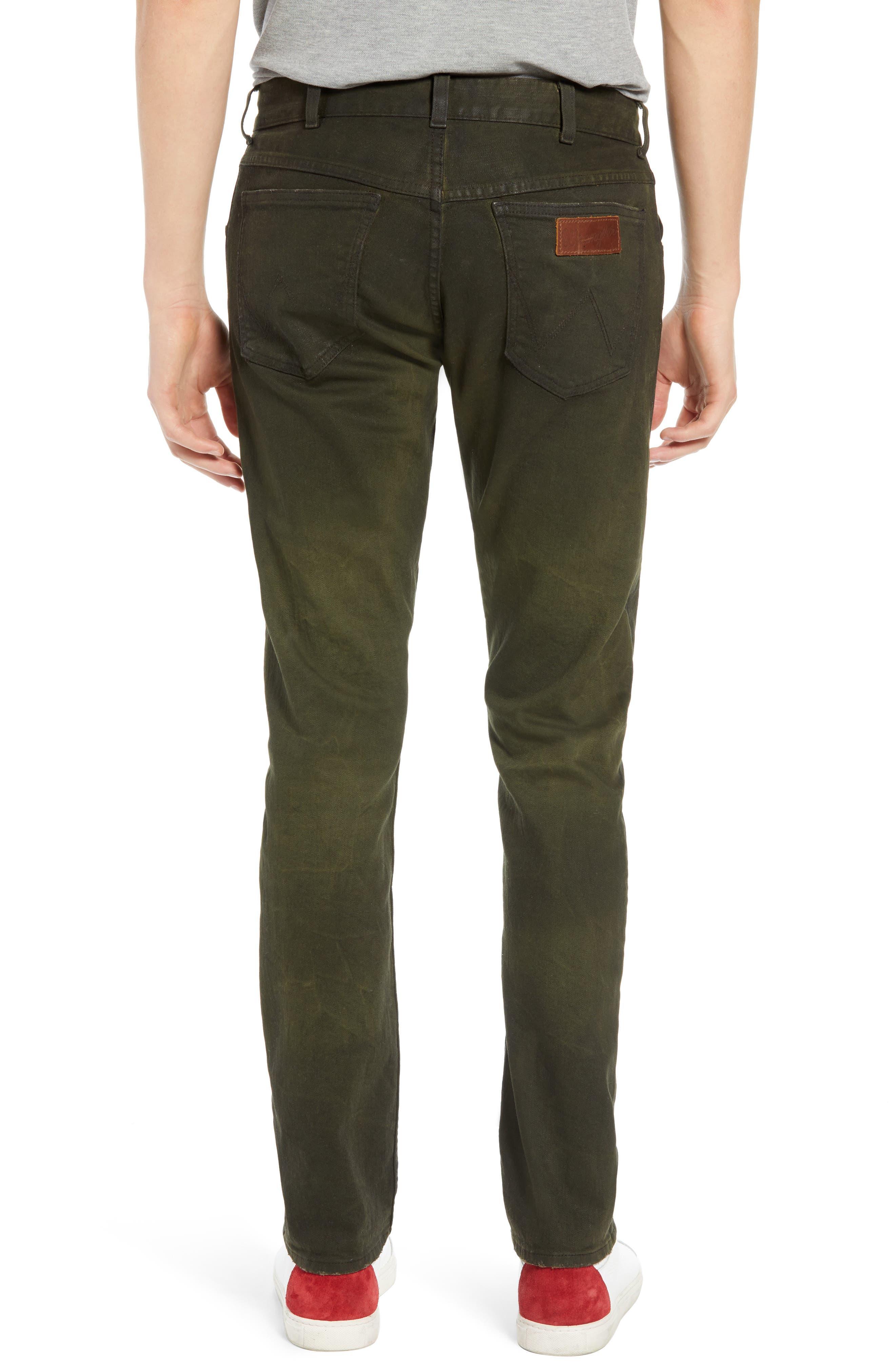 Larston Slim Fit Jeans,                             Alternate thumbnail 2, color,                             ROVER GREEN