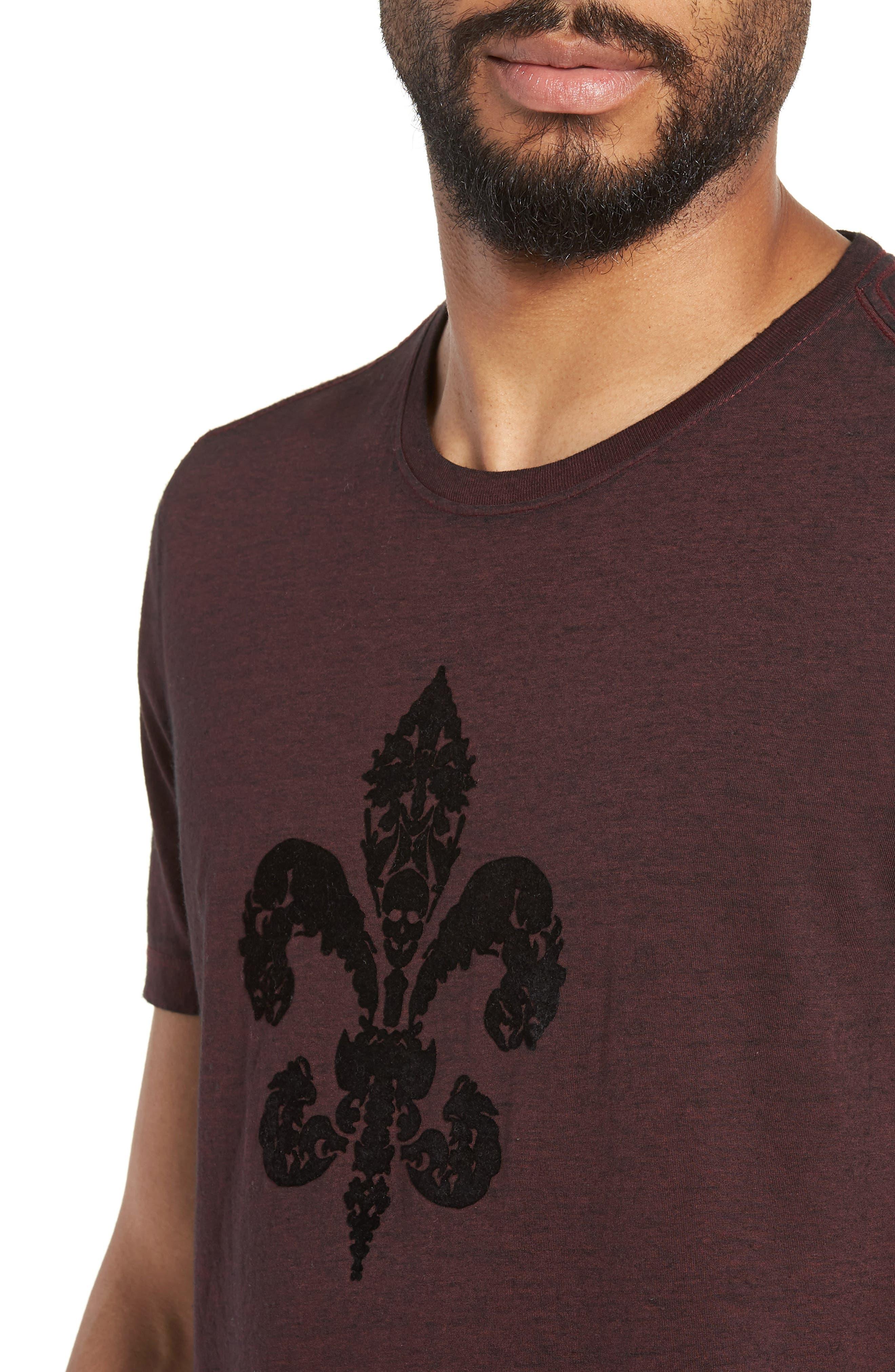 Fleur de Lis Graphic T-Shirt,                             Alternate thumbnail 4, color,                             930