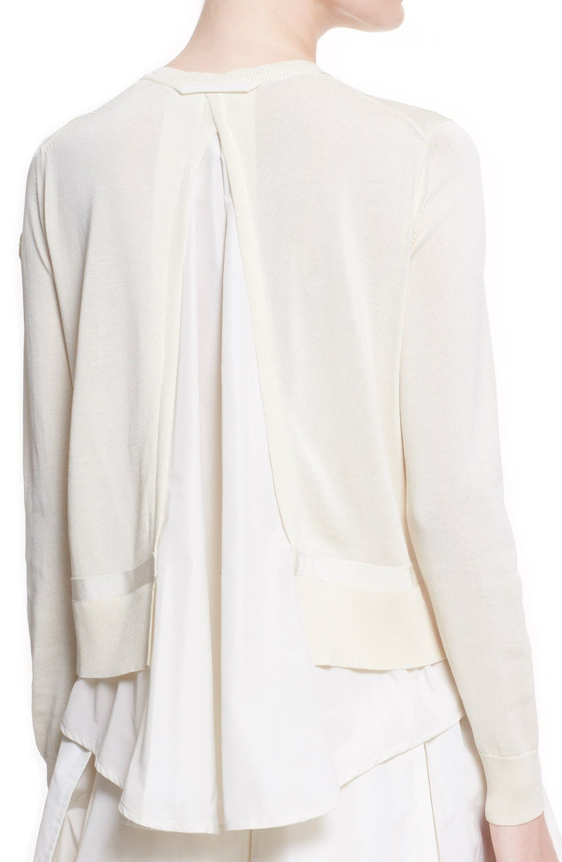 'Maglia' Tricot Button Cardigan,                             Alternate thumbnail 6, color,                             WHITE
