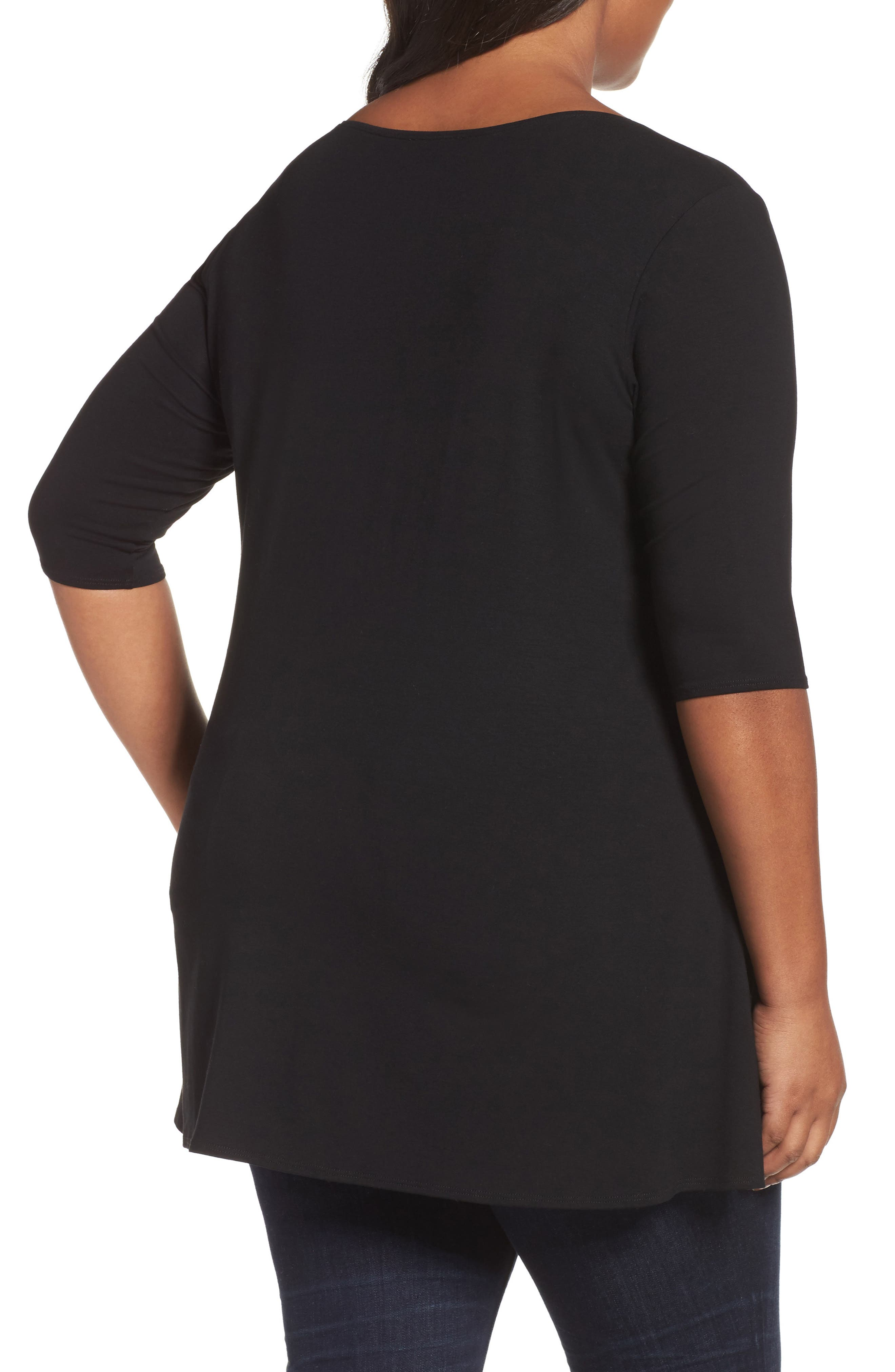 Scoop Neck Jersey Tunic,                             Alternate thumbnail 2, color,                             001