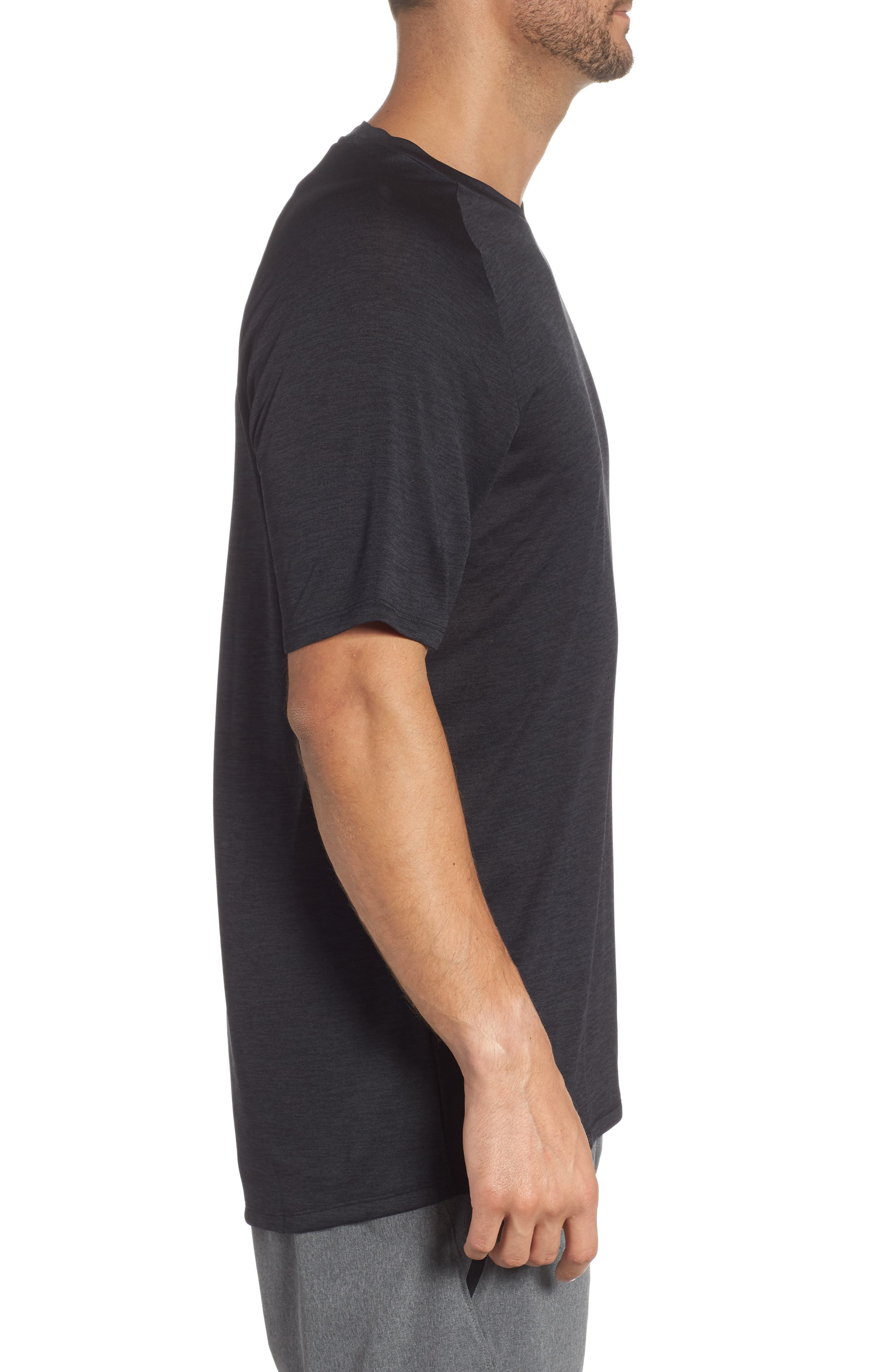 Loose Fit Tech Tee,                             Alternate thumbnail 3, color,                             001
