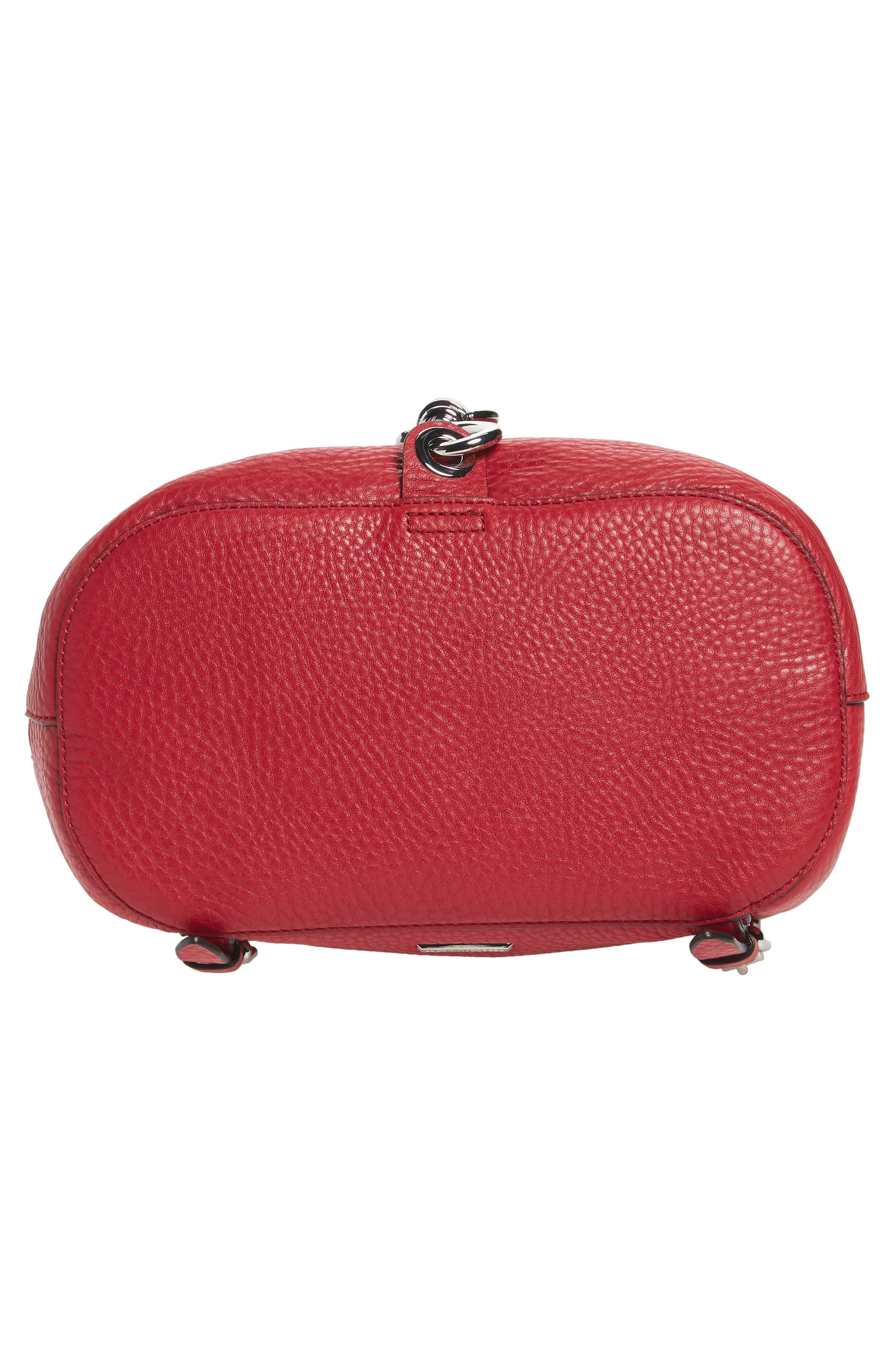 Blythe Leather Backpack,                             Alternate thumbnail 6, color,                             SCARLET