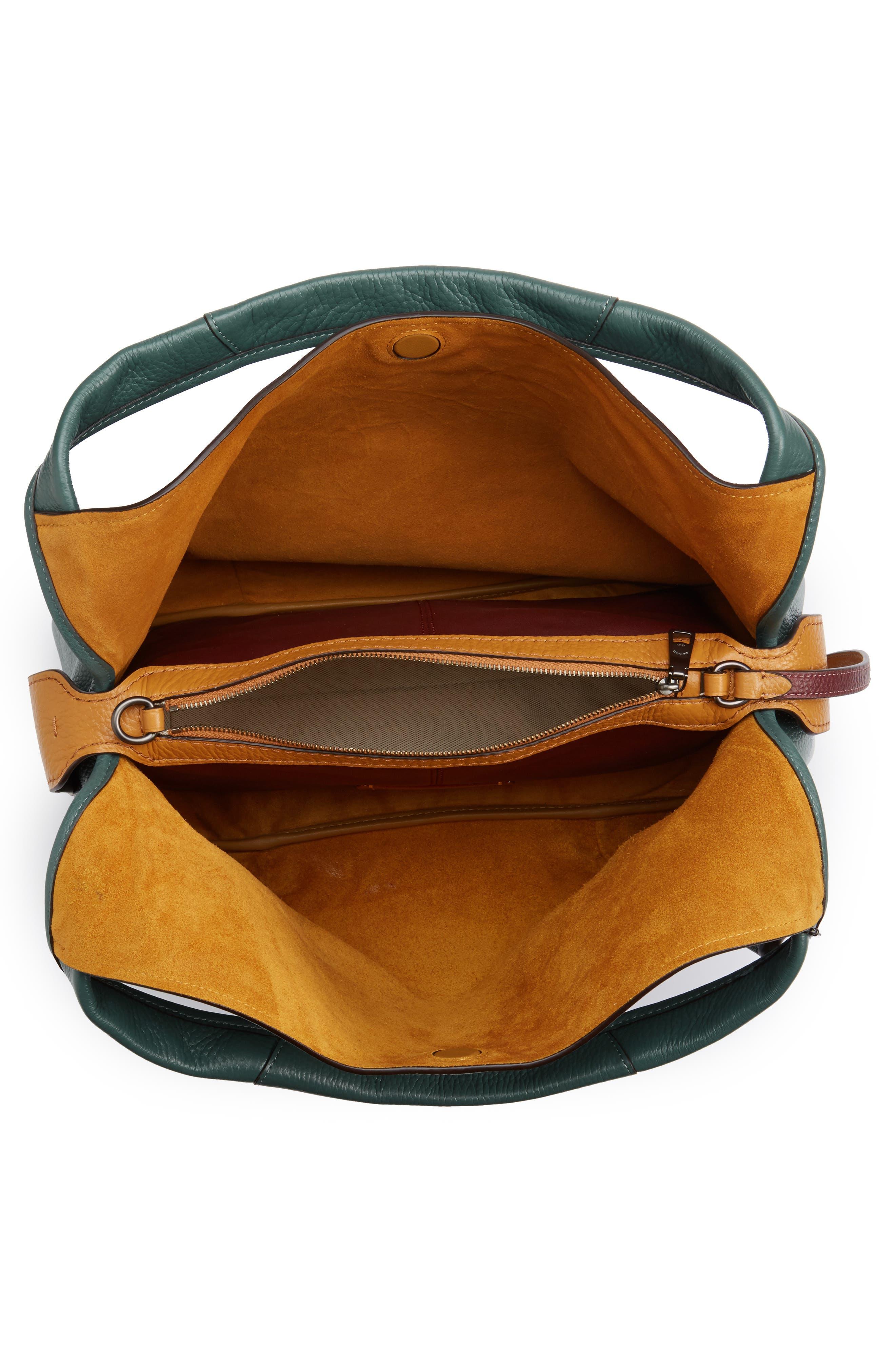 Bandit Leather Hobo & Removable Shoulder Bag,                             Alternate thumbnail 4, color,                             313