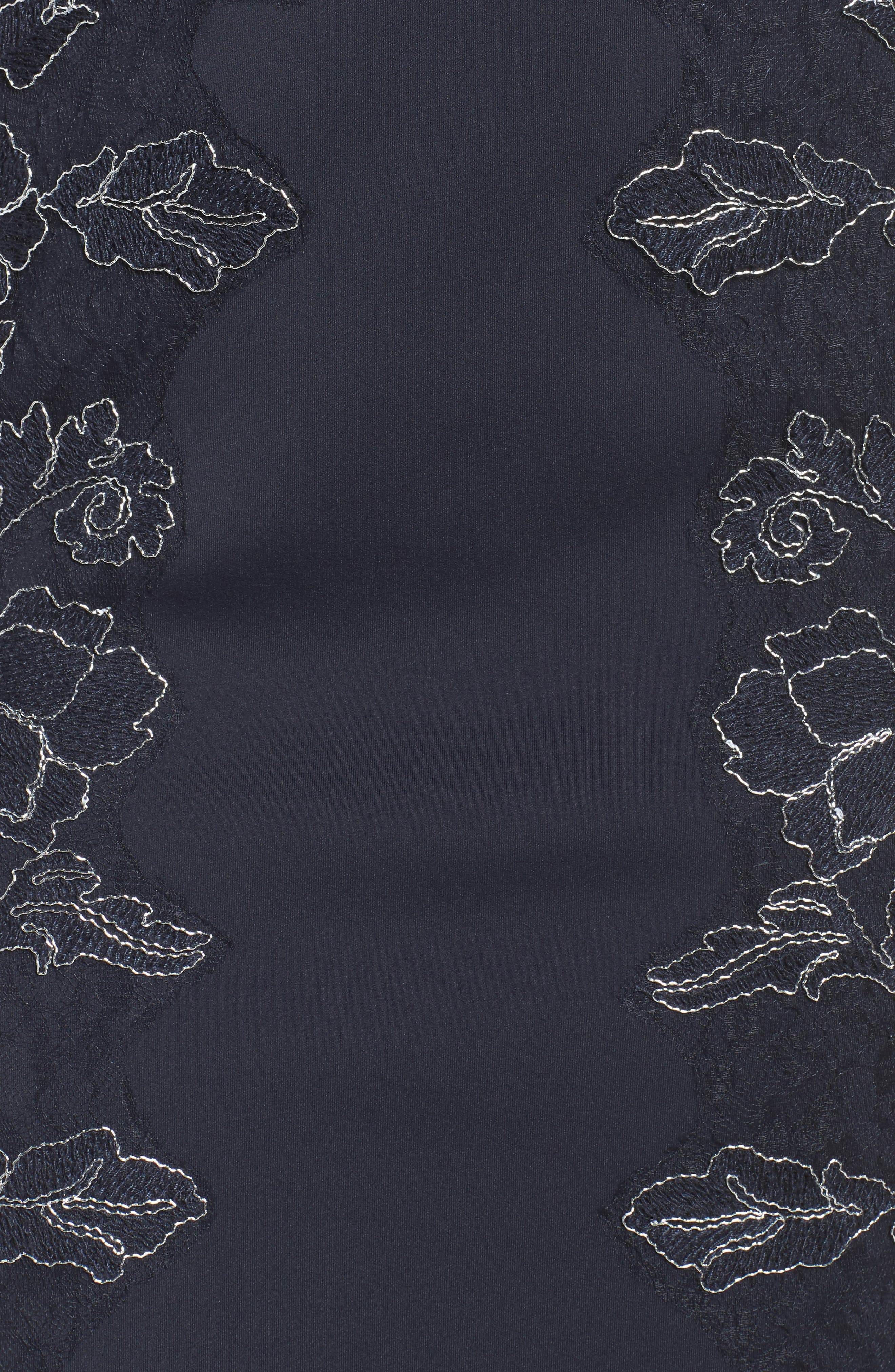 Embroidered Neoprene Sheath Dress,                             Alternate thumbnail 18, color,