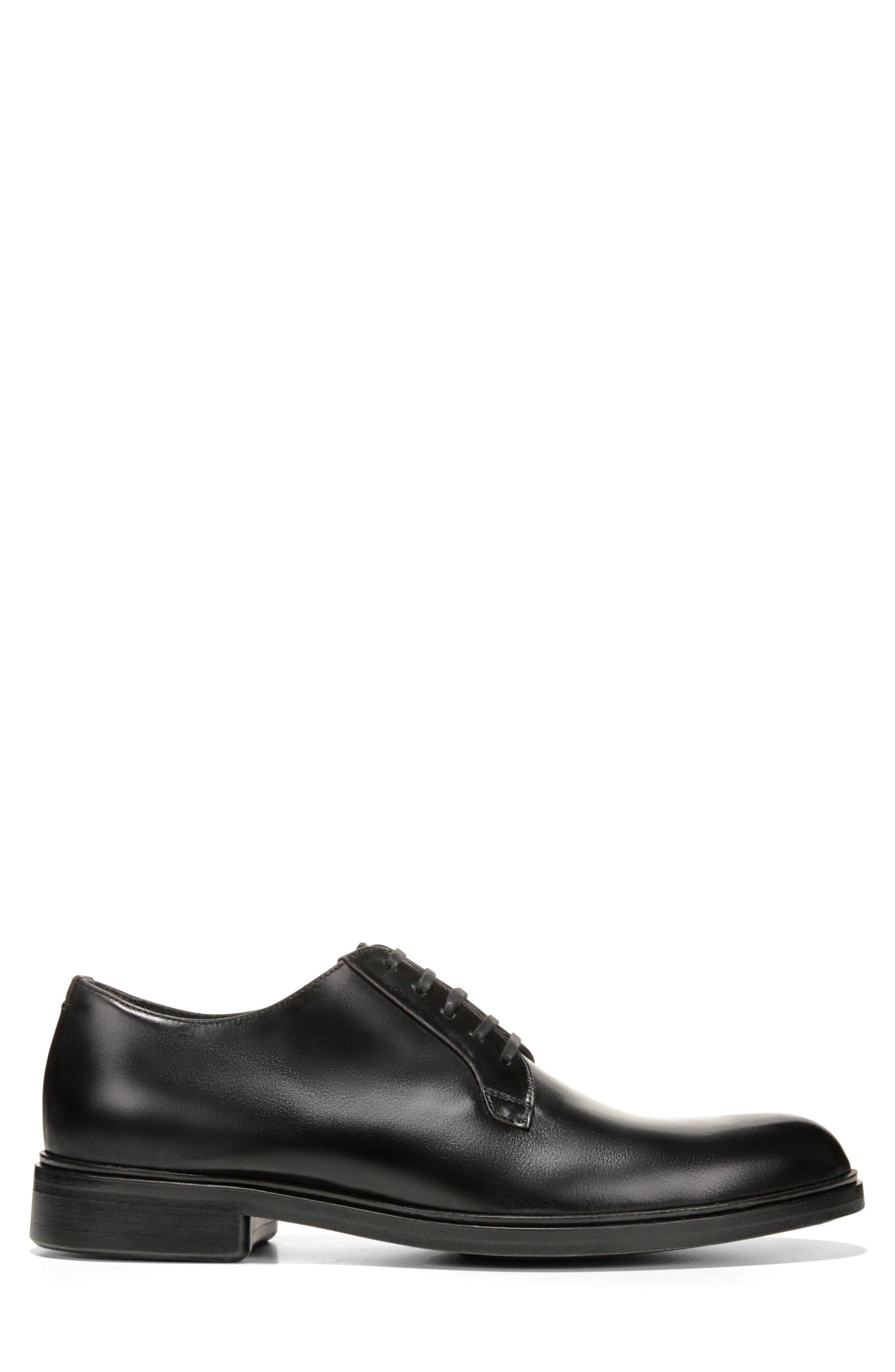 Boreum Plain Toe Derby,                             Alternate thumbnail 3, color,                             BLACK