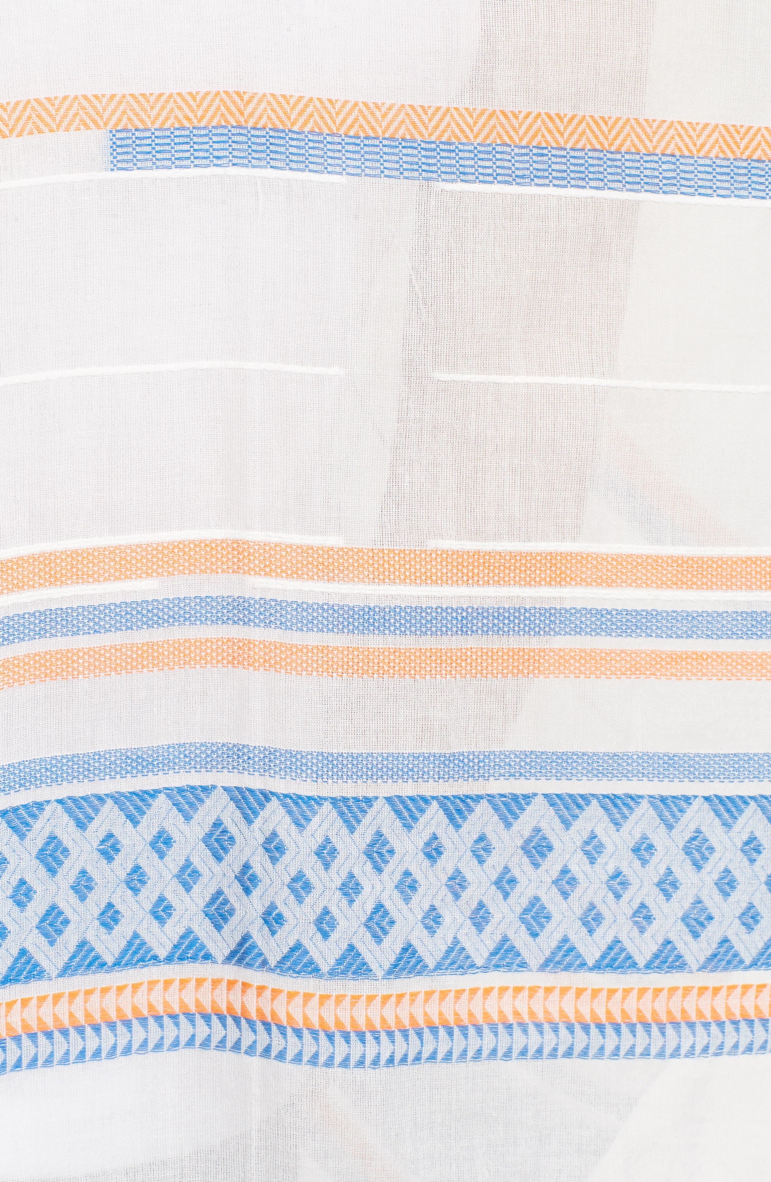 Broken Stripe Cape,                             Alternate thumbnail 5, color,                             400