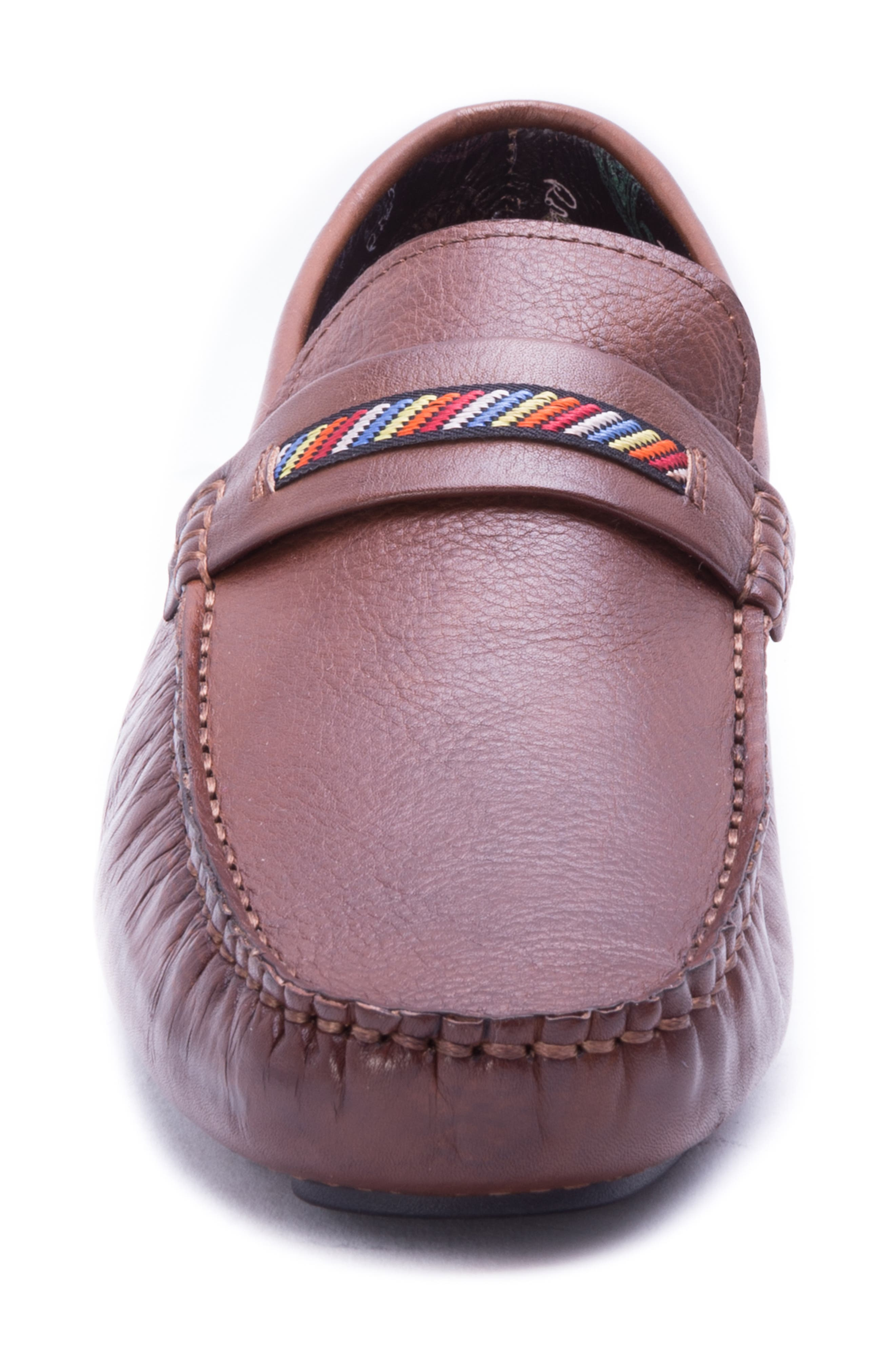 Hart Driving Moccasin,                             Alternate thumbnail 4, color,                             COGNAC LEATHER