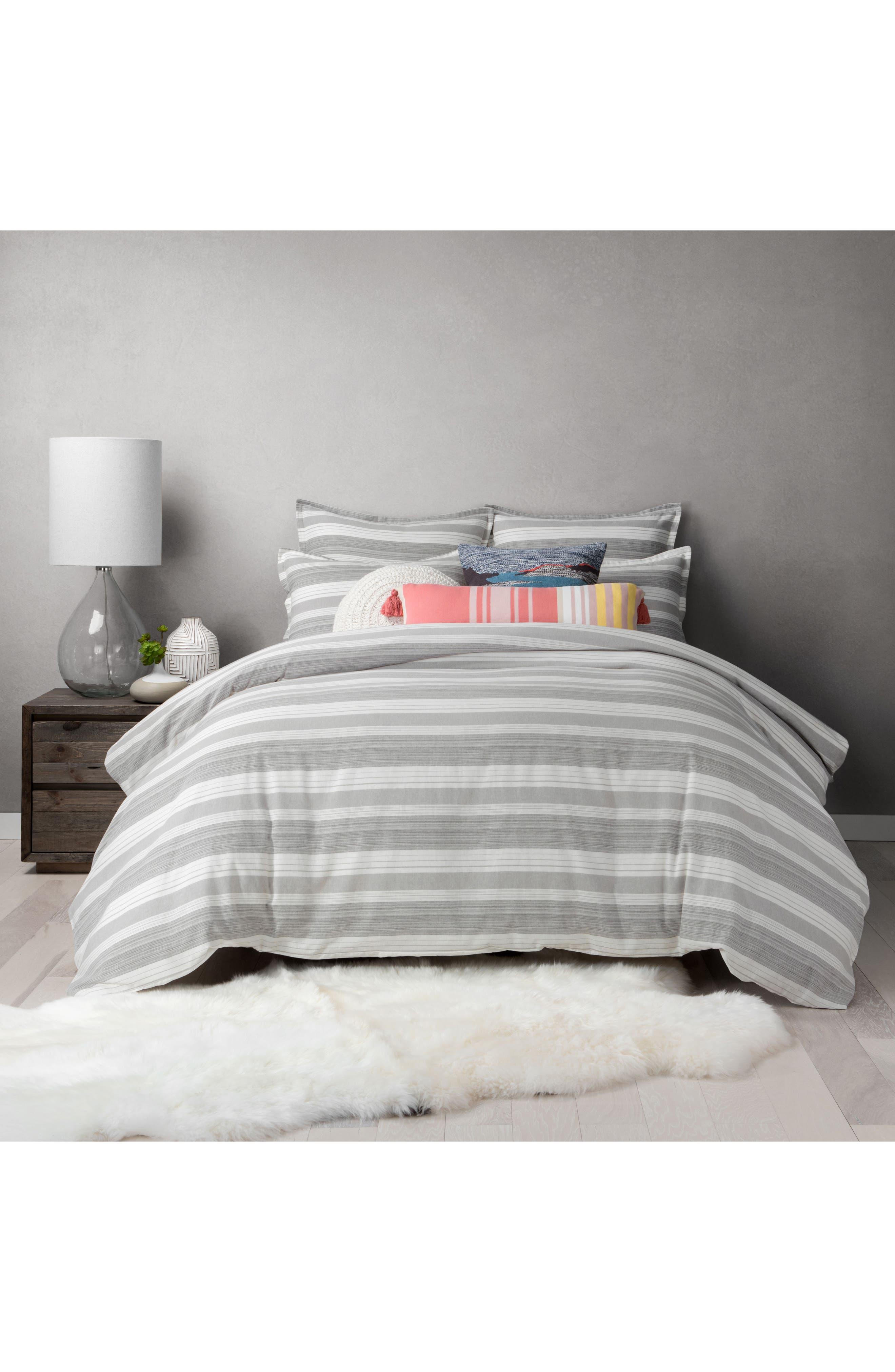 Tatum Stripe Duvet Cover,                         Main,                         color, 020