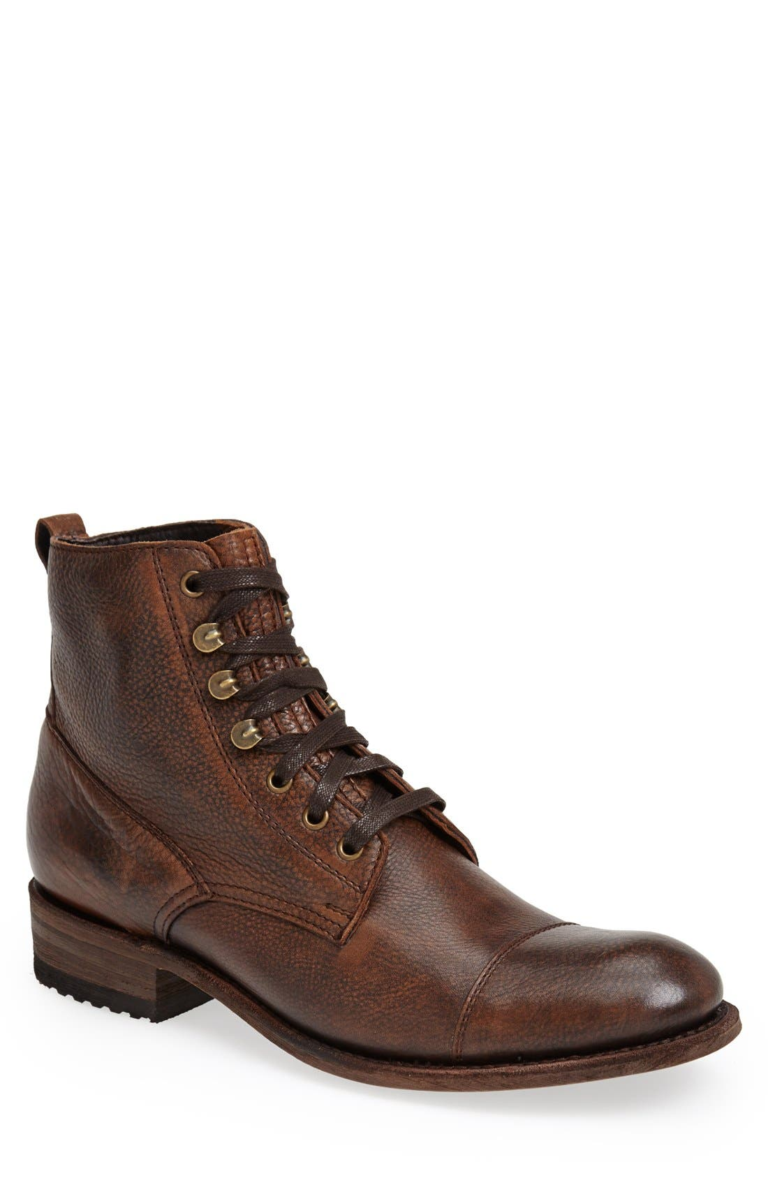 'Station' Cap Toe Boot,                             Main thumbnail 1, color,                             200