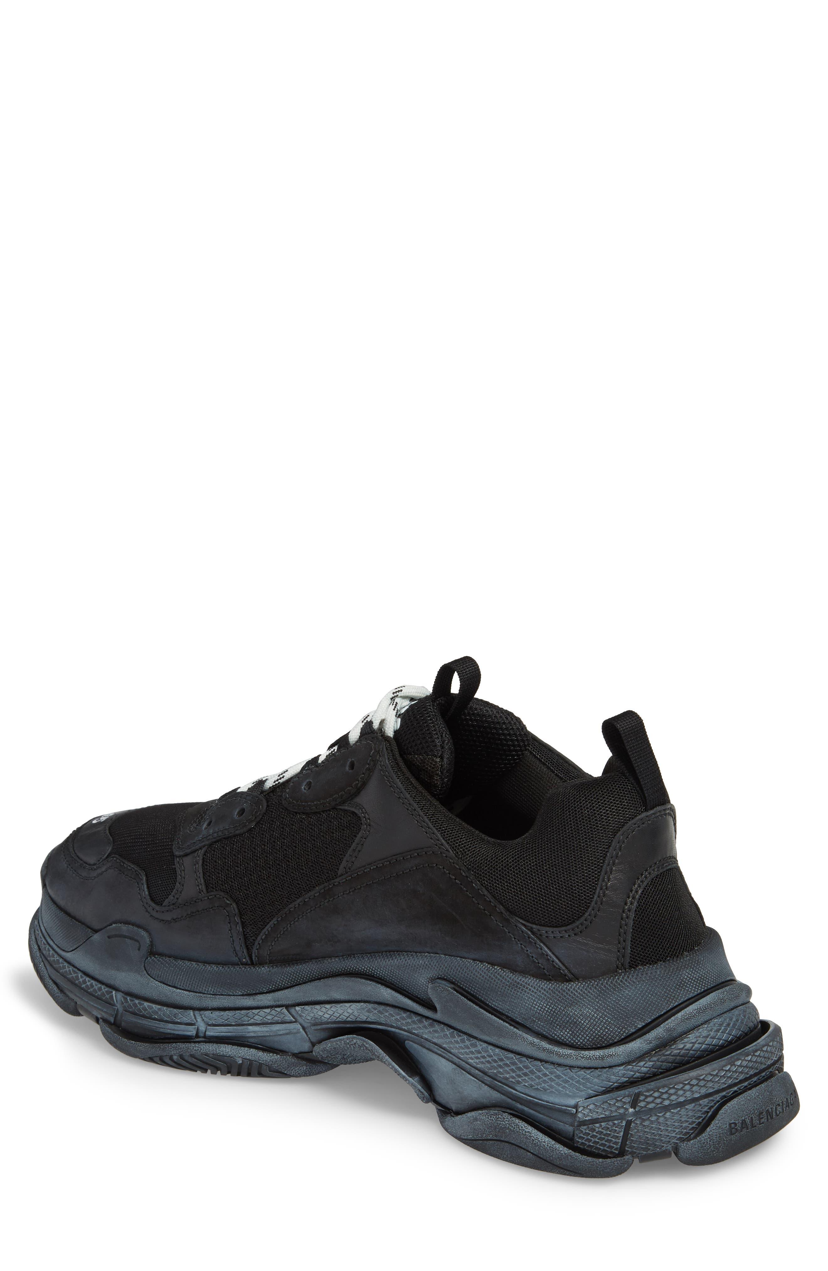 Triple S Retro Sneaker,                             Alternate thumbnail 2, color,                             NOIR