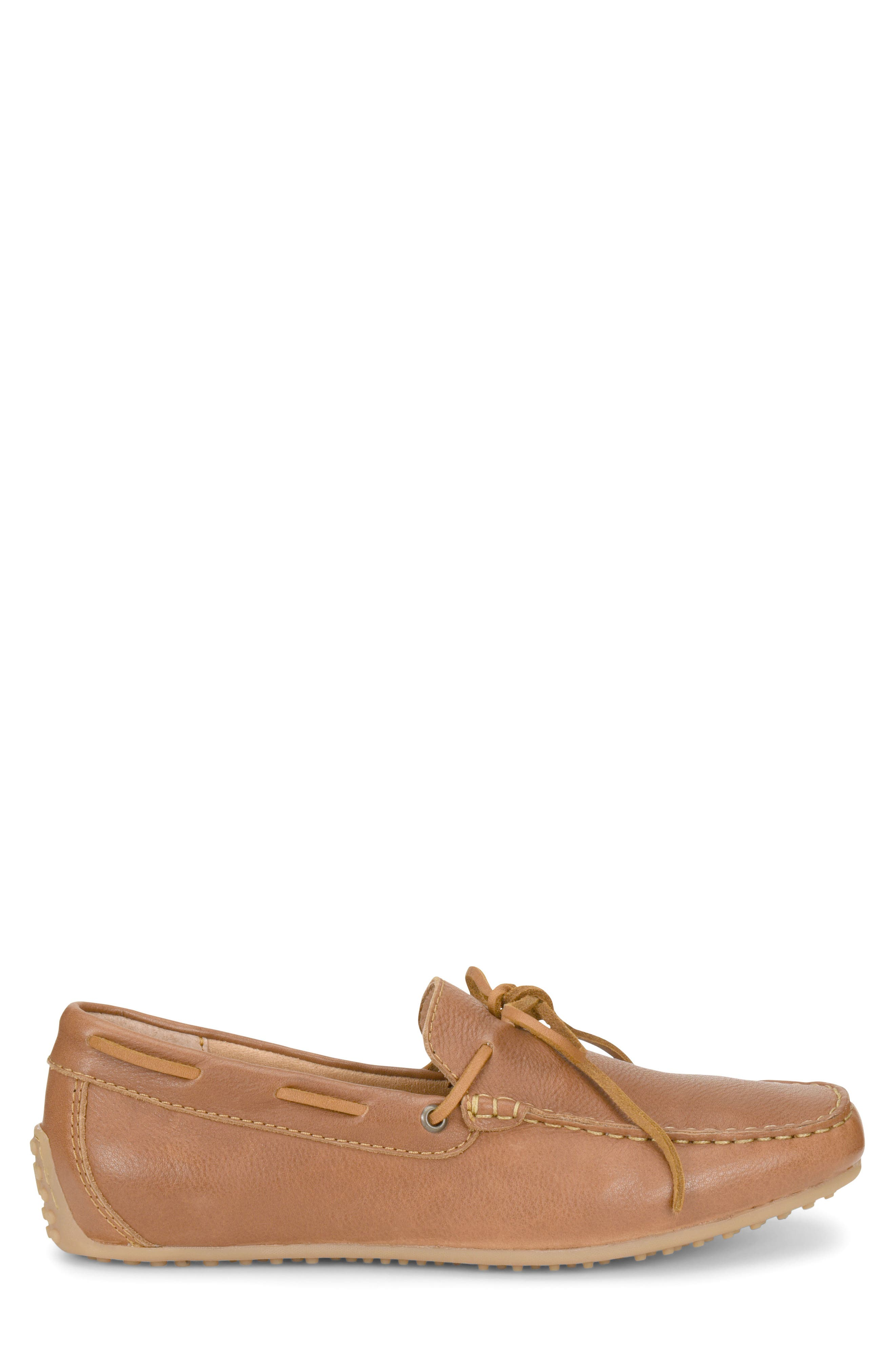 Virgo Driving Shoe,                             Alternate thumbnail 3, color,                             BROWN LEATHER
