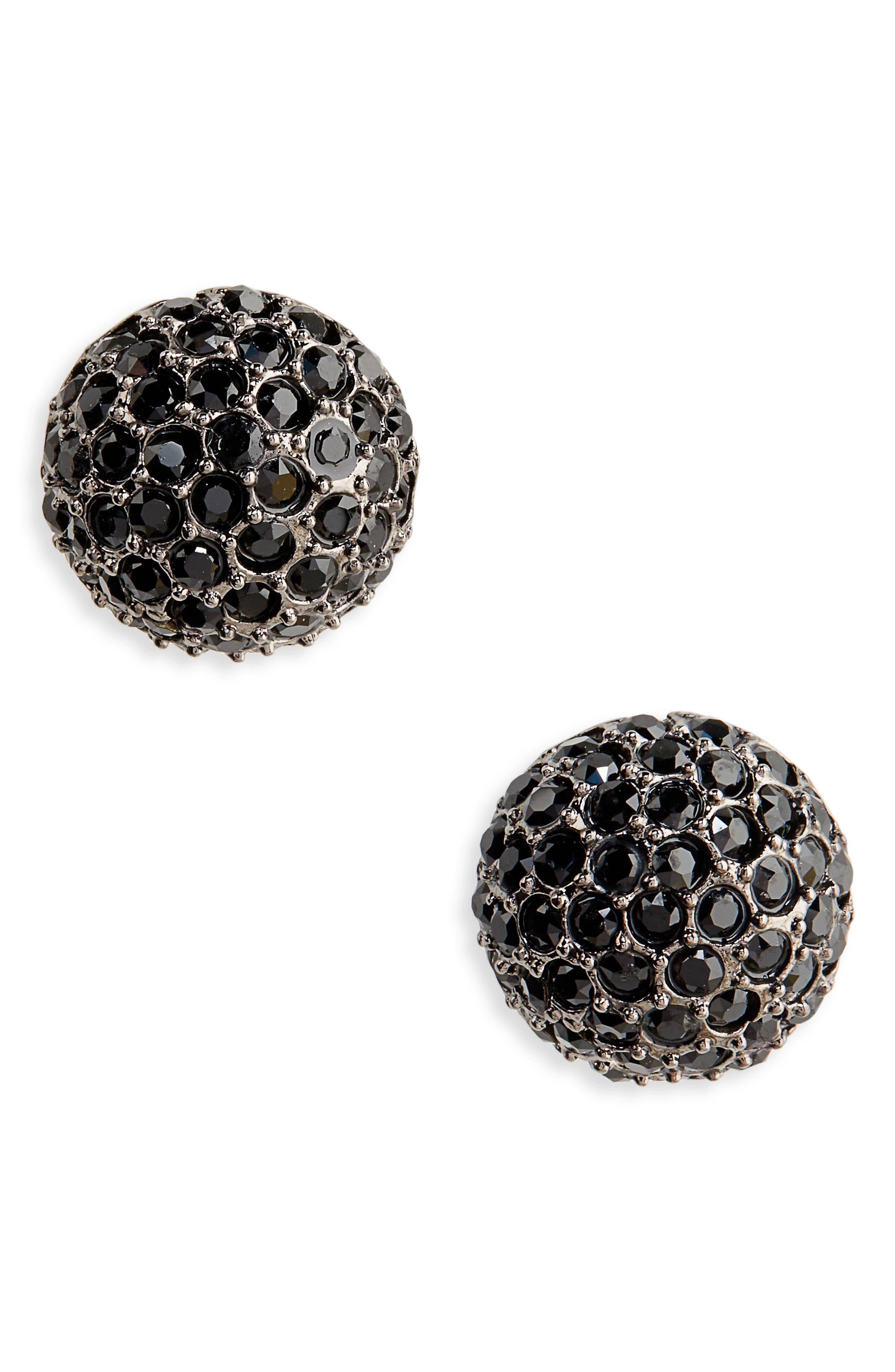 Dome Stud Earrings,                             Main thumbnail 1, color,                             001