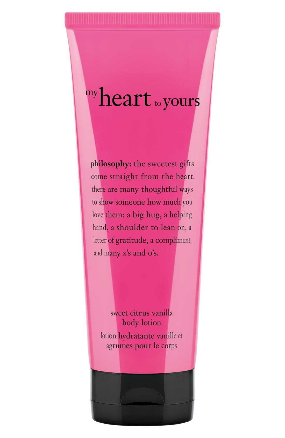PHILOSOPHY,                             'my heart to yours' body lotion,                             Main thumbnail 1, color,                             000