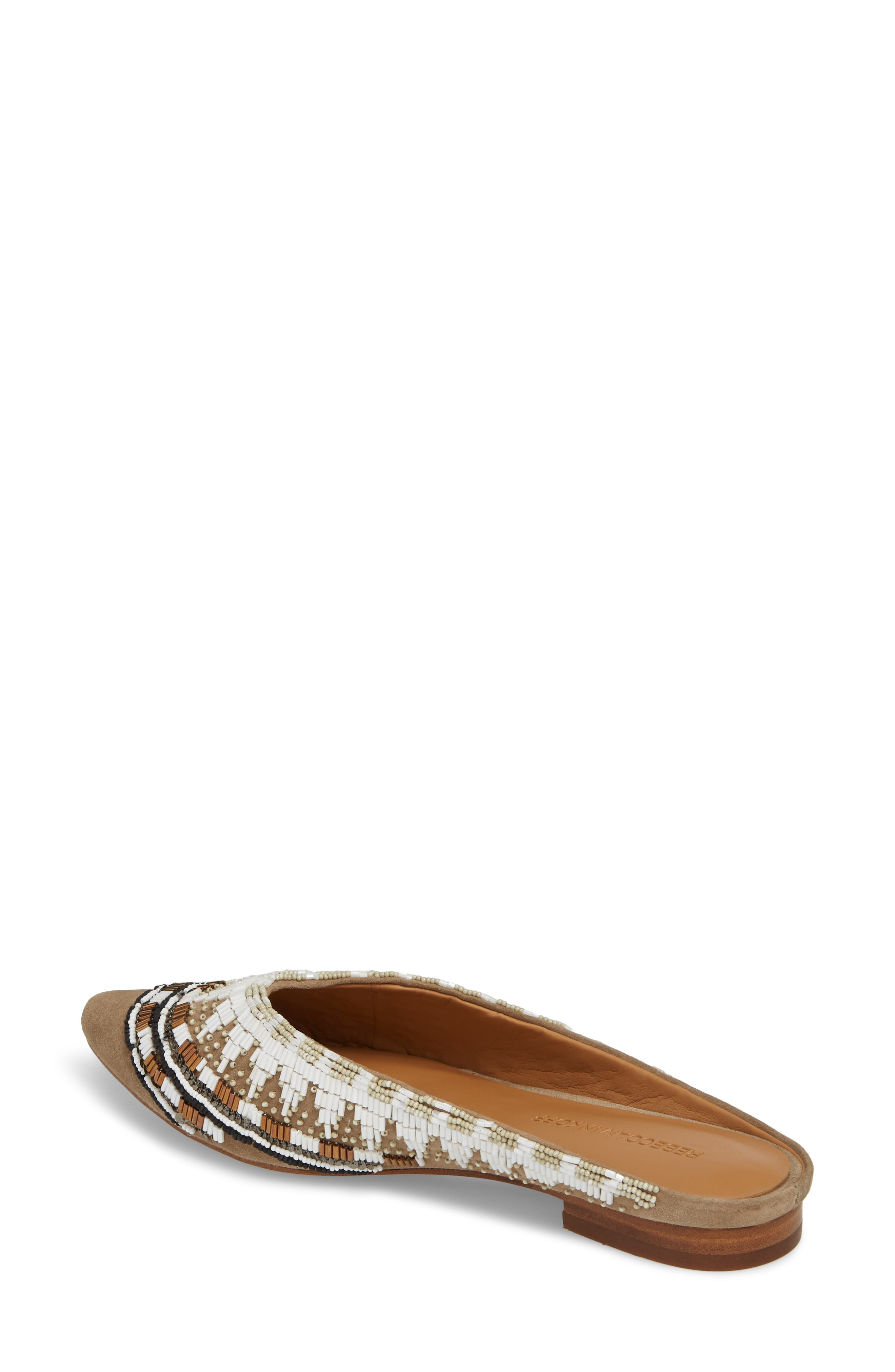 Roxane Beaded Flat Mule,                             Alternate thumbnail 2, color,                             TAUPE SUEDE