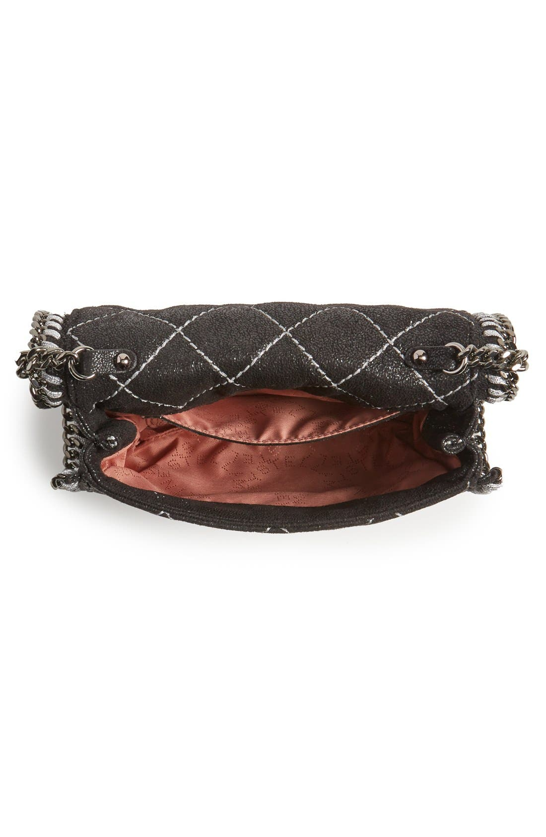 'Falabella' Quilted Faux Leather Crossbody Bag,                             Alternate thumbnail 14, color,