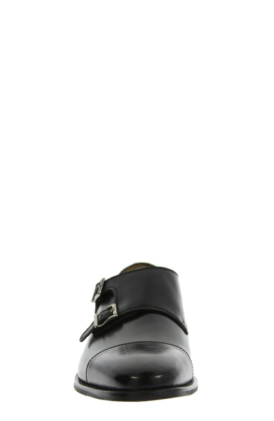 'Sabato' Double Monk Strap Shoe,                             Alternate thumbnail 4, color,                             001