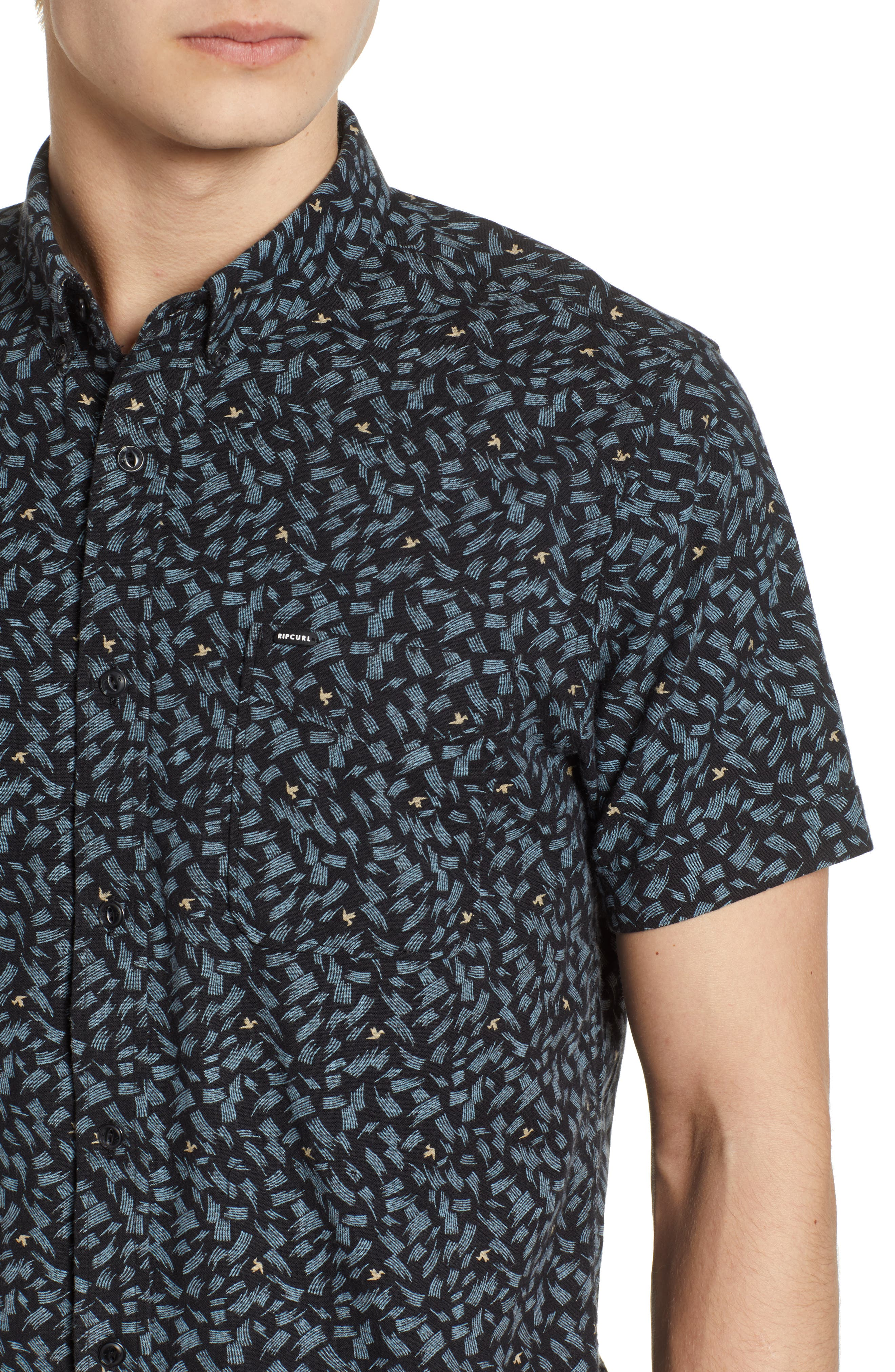 Northern Short Sleeve Shirt,                             Alternate thumbnail 4, color,                             001