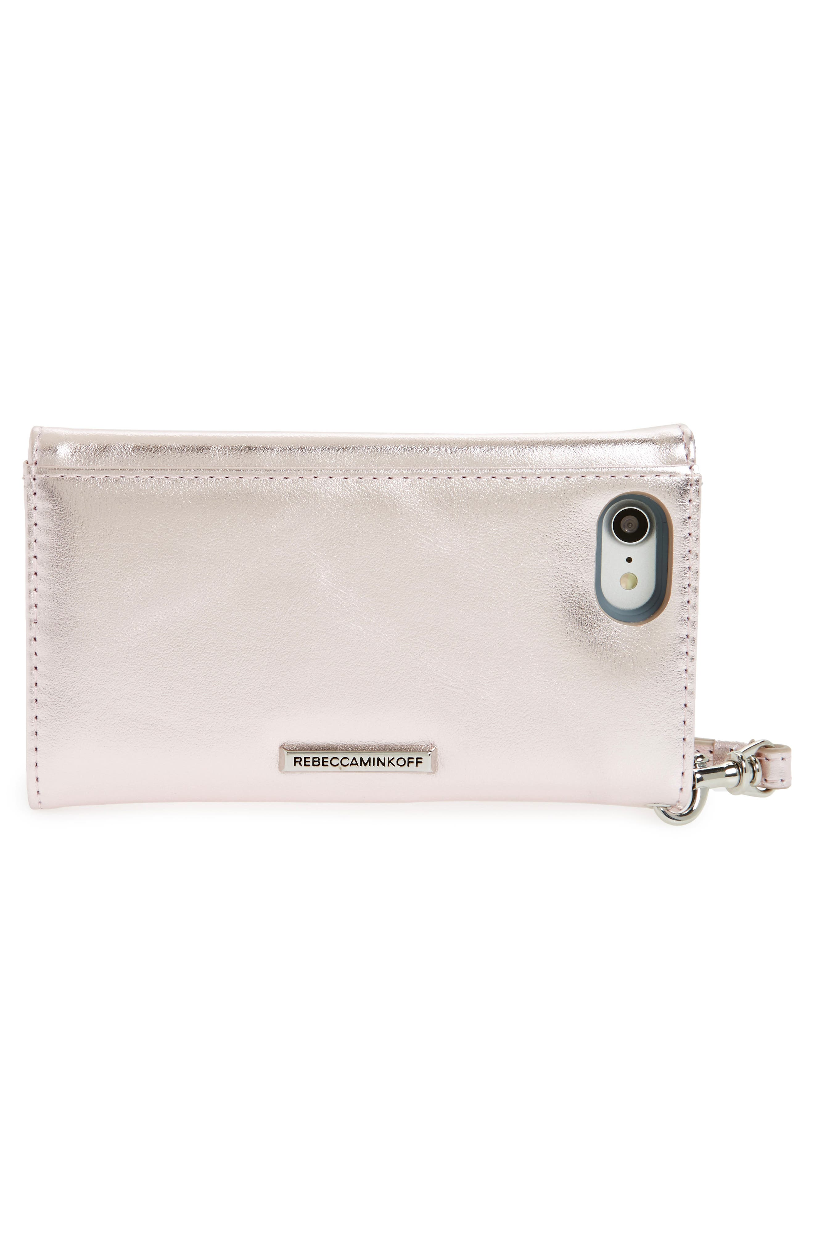 Leather Whipstitch iPhone 7/8 Wristlet,                             Alternate thumbnail 4, color,                             540