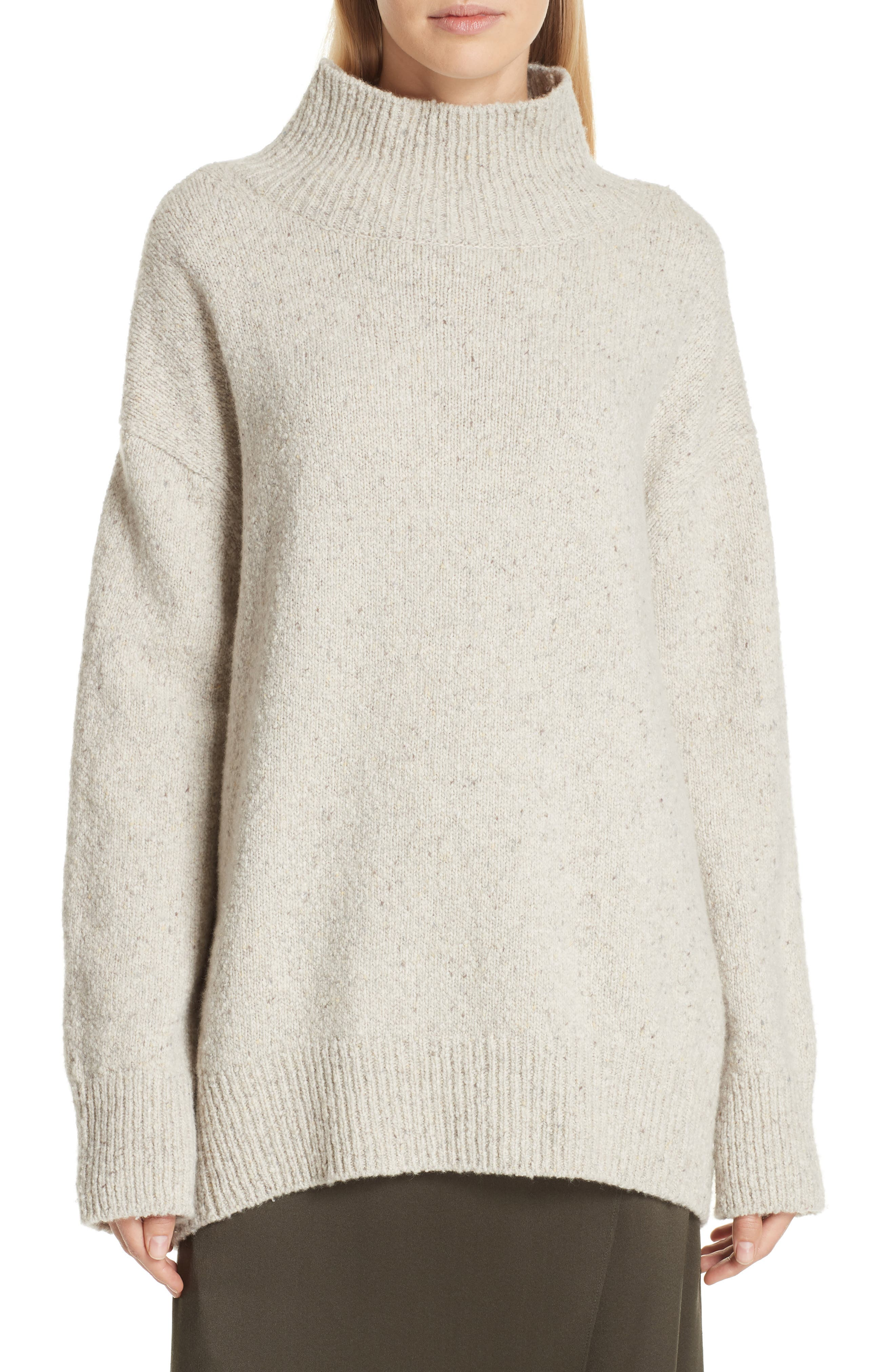 Oversize Cashmere Sweater,                             Main thumbnail 1, color,                             BUTTERMILK