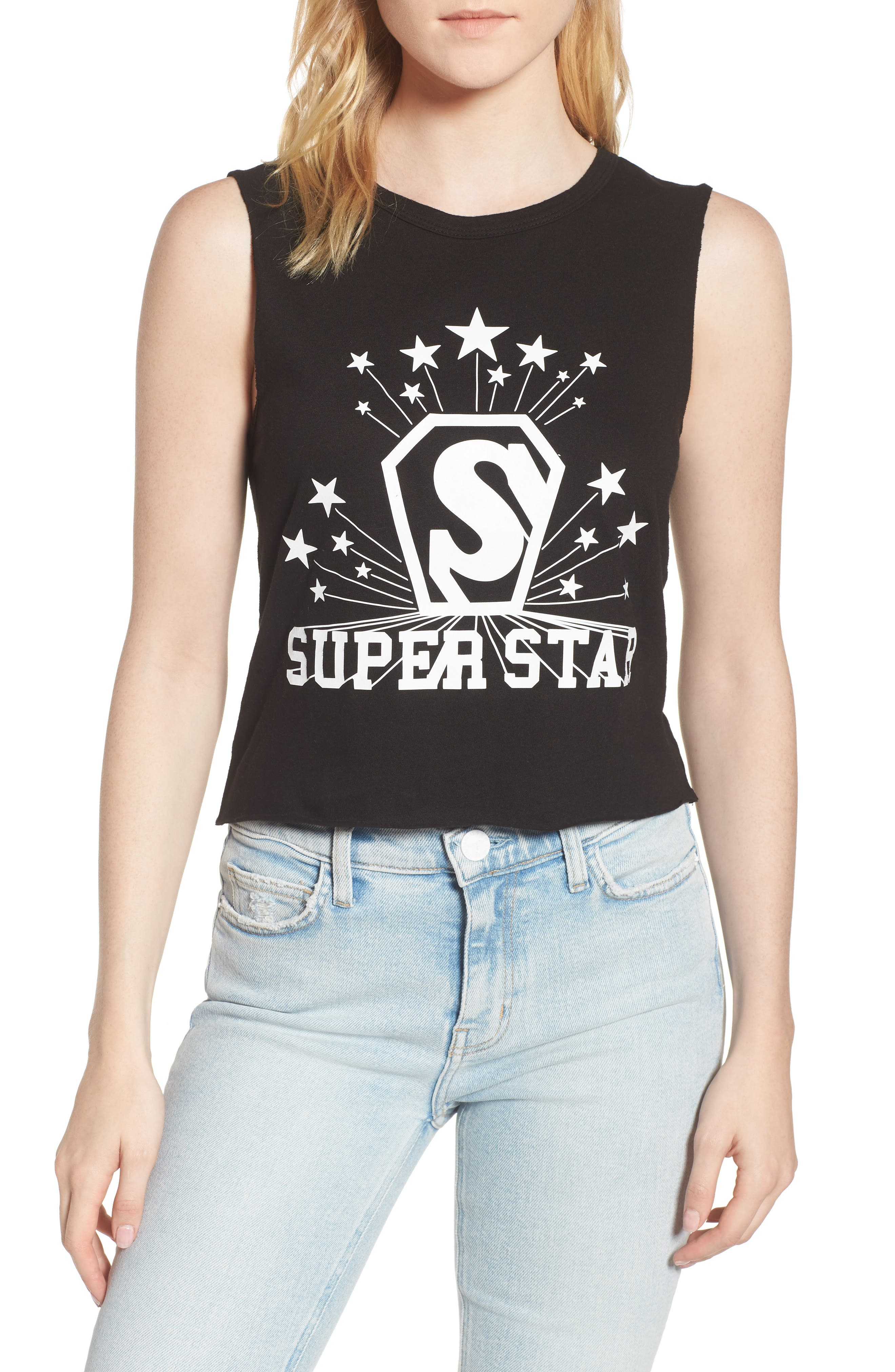 Superstar Shrunken Muscle Tee,                         Main,                         color, 001