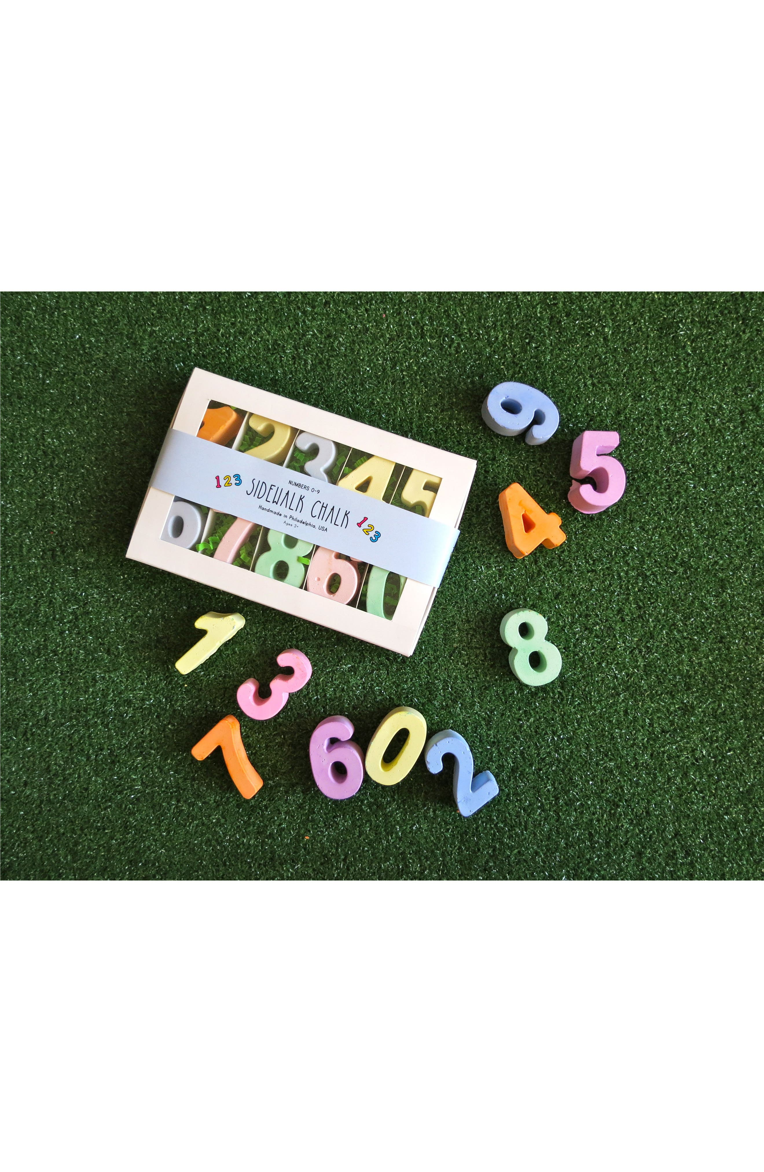 10-Piece Numbers Sidewalk Chalk Set,                             Alternate thumbnail 2, color,