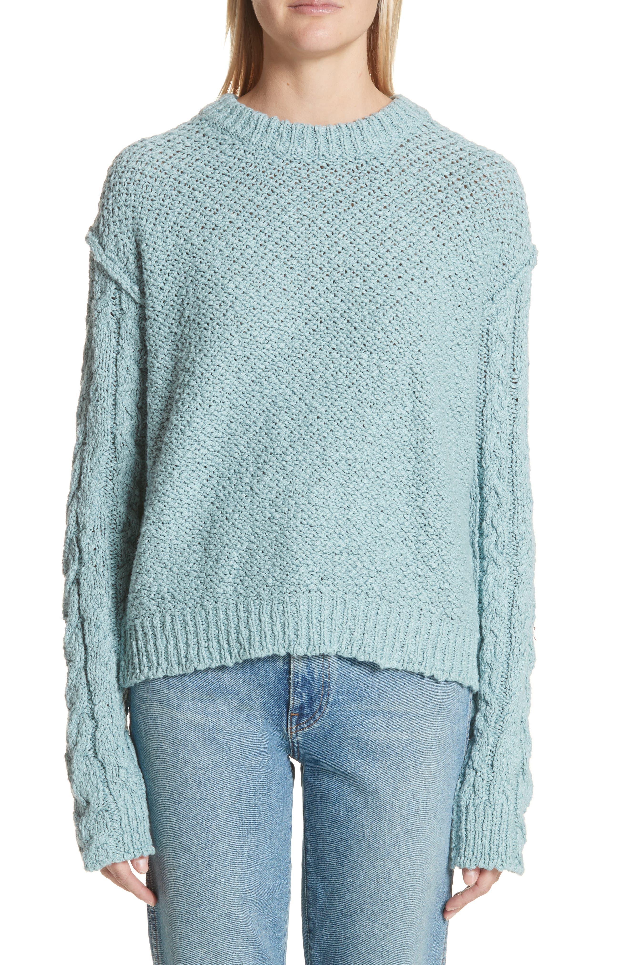 Hila Cable Sleeve Sweater,                             Main thumbnail 1, color,                             400