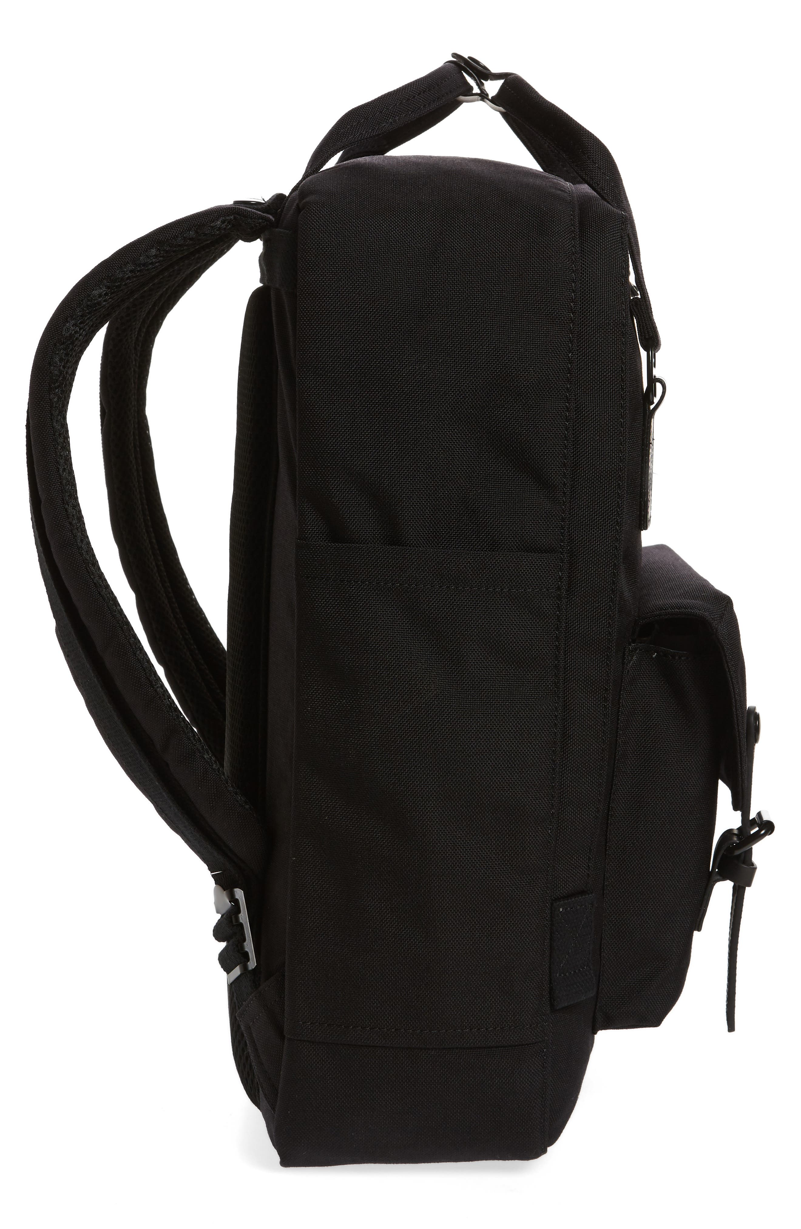 Macaroon Large Cordura<sup>®</sup> Black Series Water Repellent Backpack,                             Alternate thumbnail 5, color,                             001