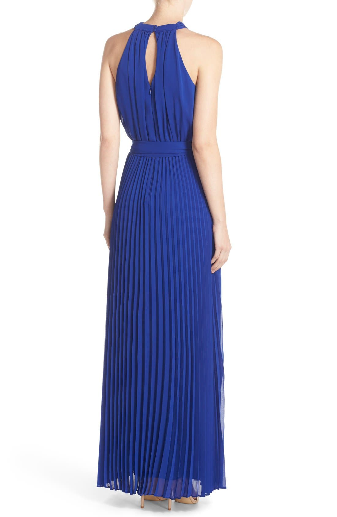 Pleated Chiffon Maxi Dress,                             Alternate thumbnail 2, color,                             430