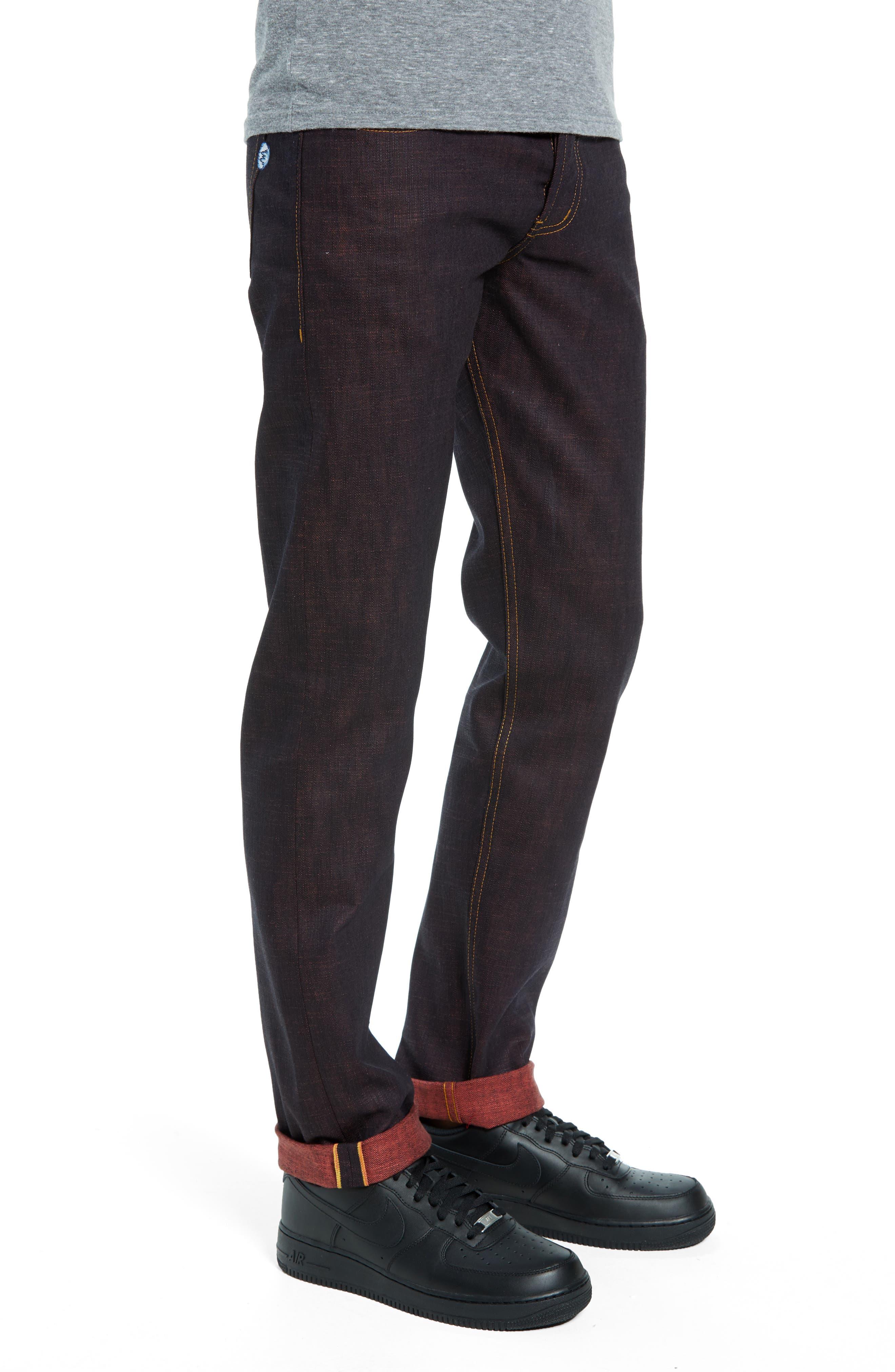 Weird Guy Slim Fit Jeans,                             Alternate thumbnail 3, color,                             KEN SHORYUKEN SELVEDGE