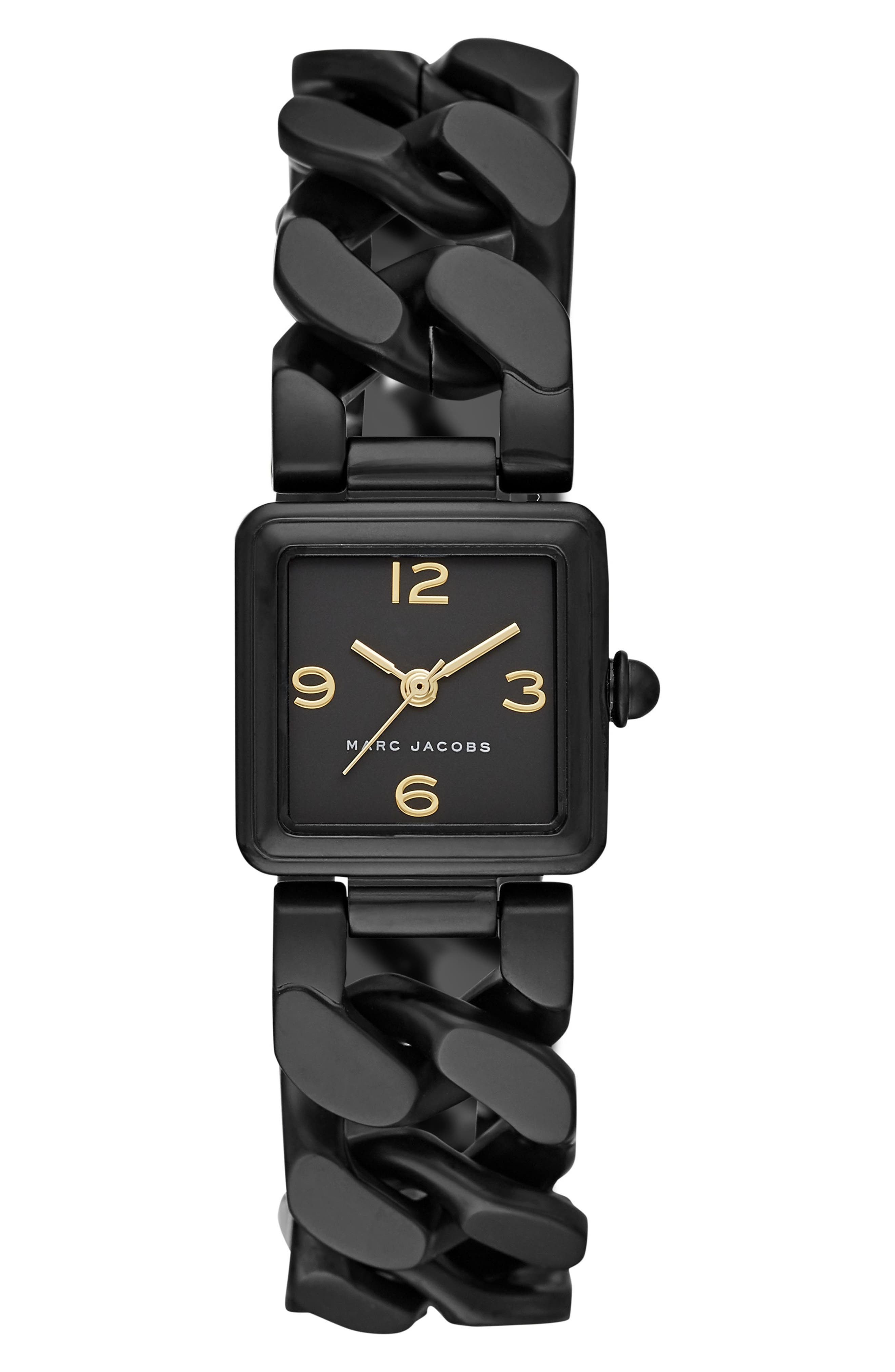Vic Bracelet Watch, 20mm x 20mm,                         Main,                         color, BLACK