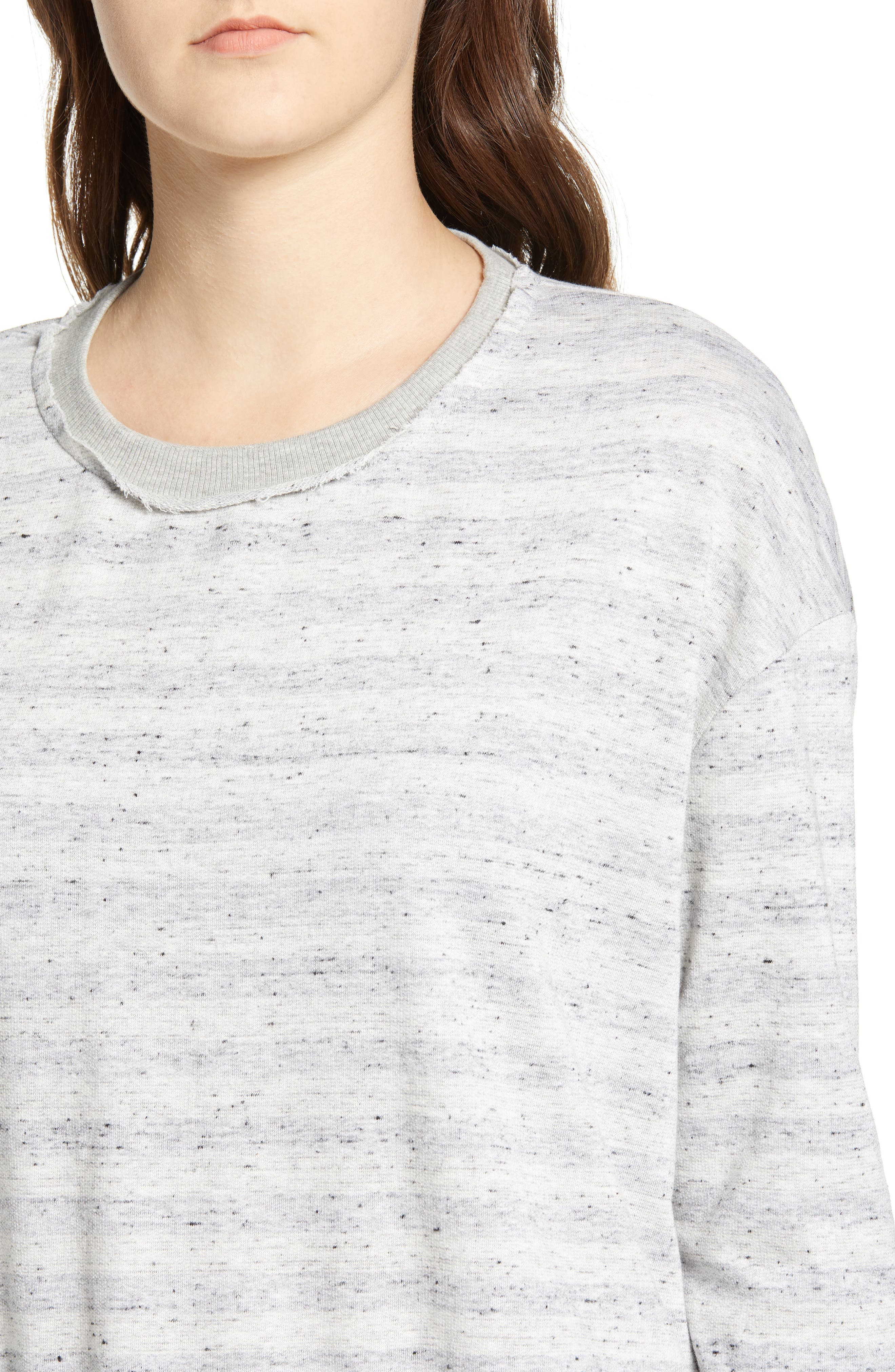Stripe Inside Out Pullover,                             Alternate thumbnail 4, color,                             020