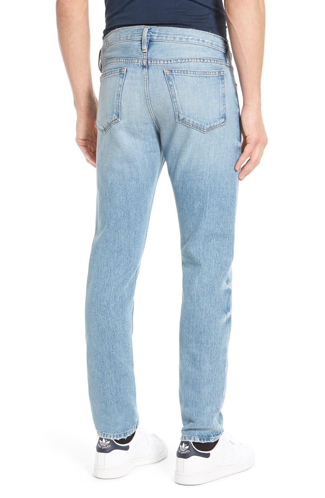 'L'Homme' Slim Fit Jeans,                             Alternate thumbnail 6, color,