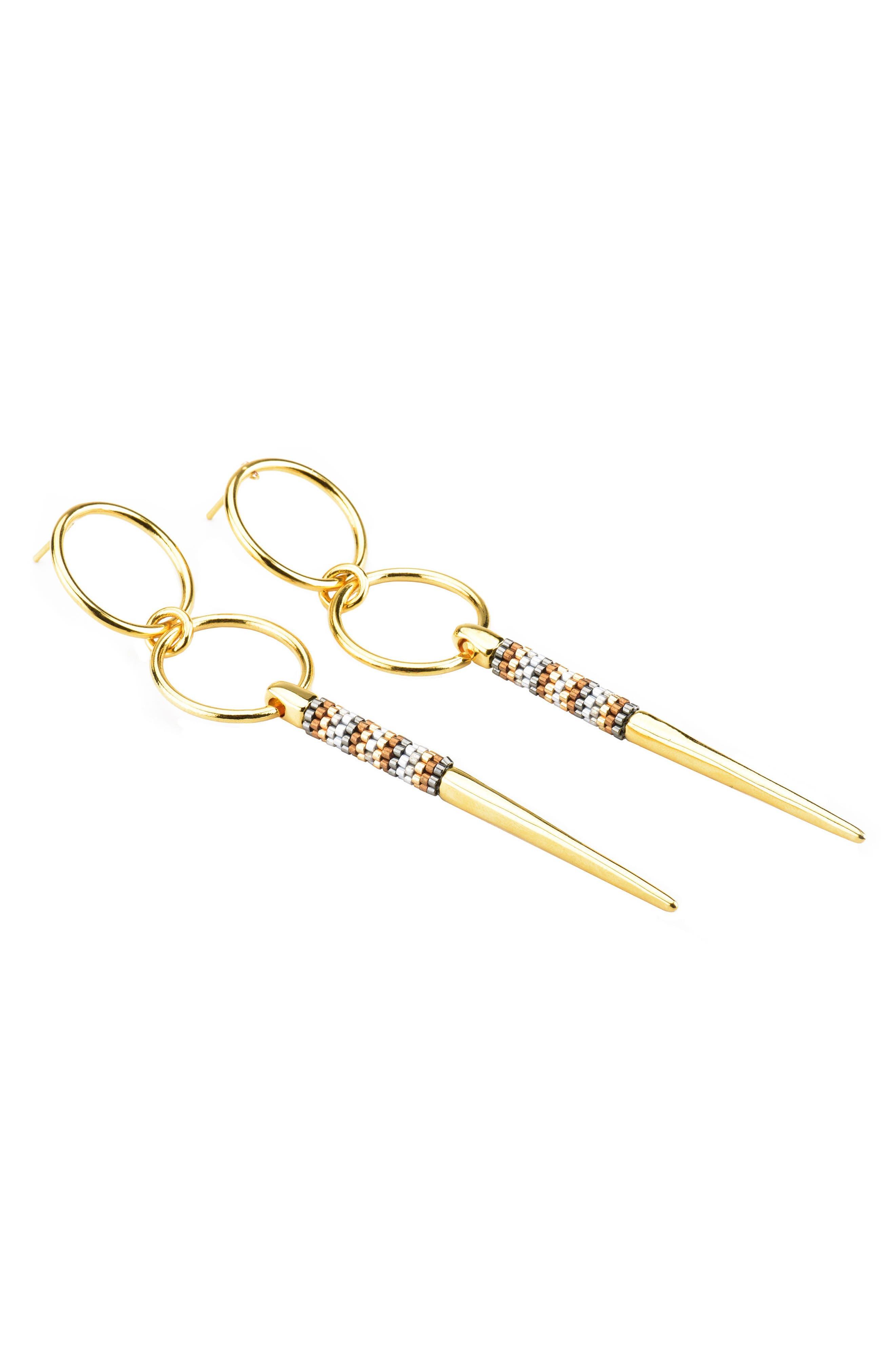 Loop, Spike & Bead Statement Earrings,                         Main,                         color, 040
