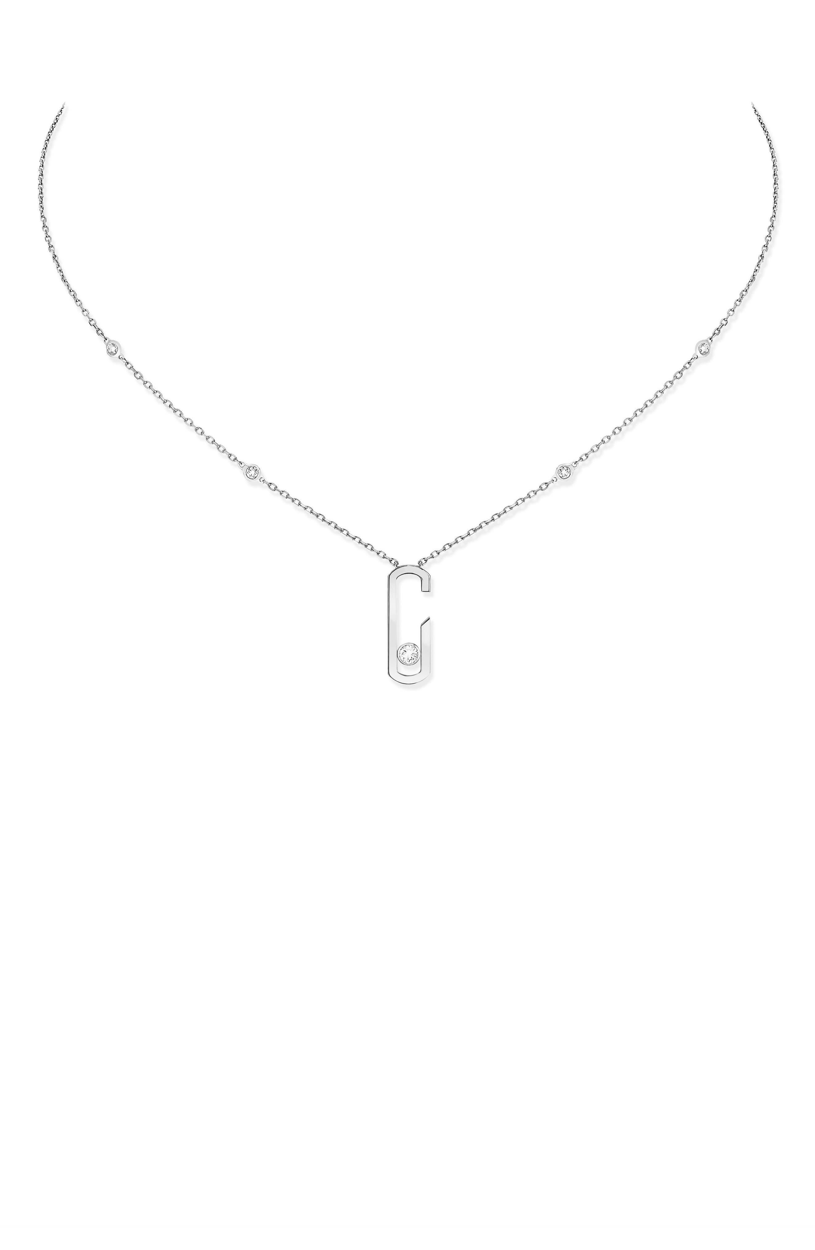 Move Addiction by Gigi Hadid Diamond Station Pendant Necklace,                             Main thumbnail 1, color,                             WHITE GOLD