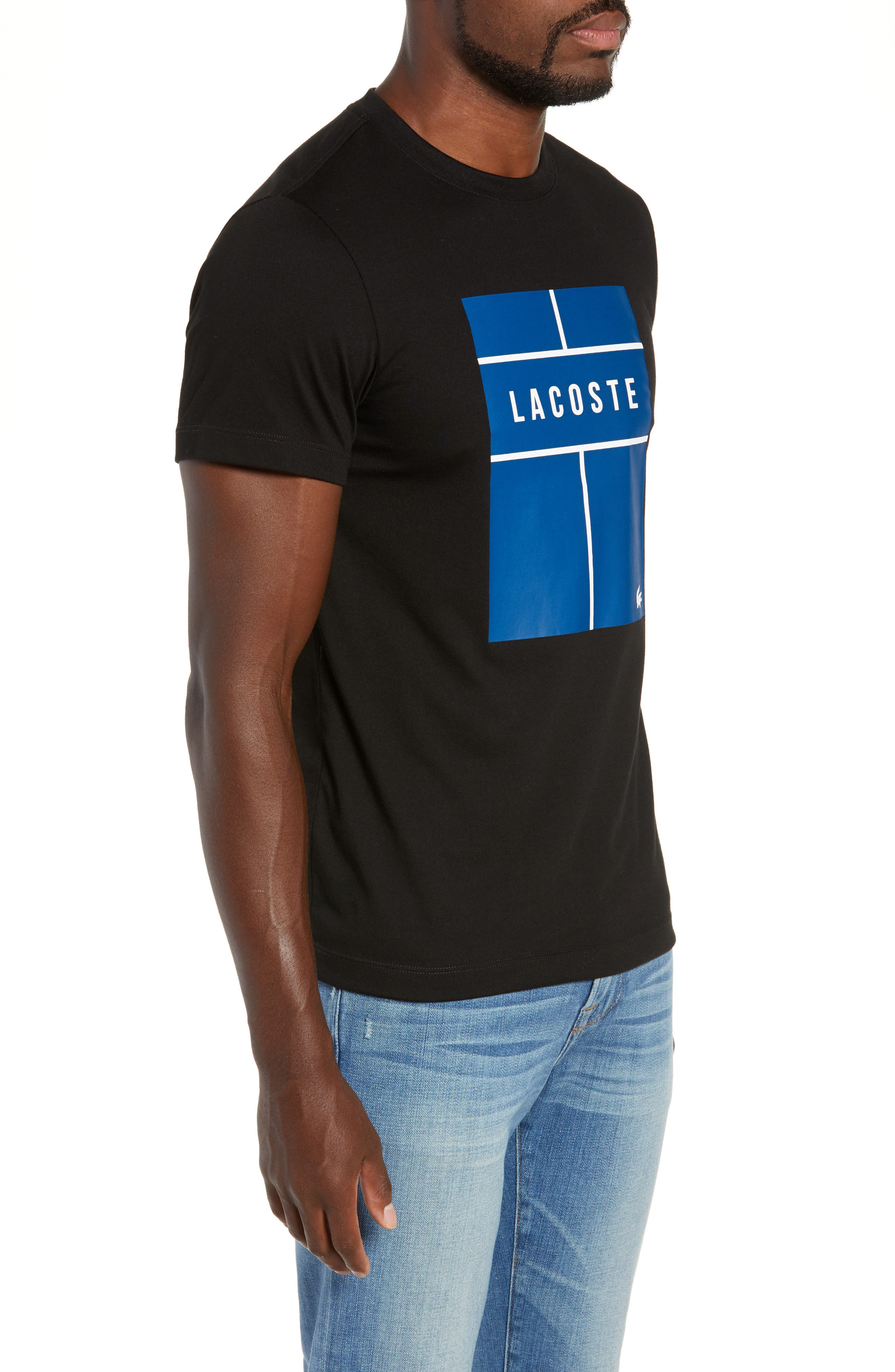 Ultra Dry Regular Fit Jersey T-Shirt,                             Alternate thumbnail 3, color,                             BLACK/ INKWELL WHITE