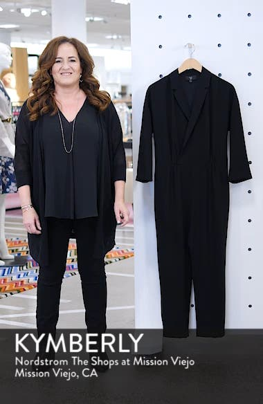 Crepe Lapel Jumpsuit, sales video thumbnail