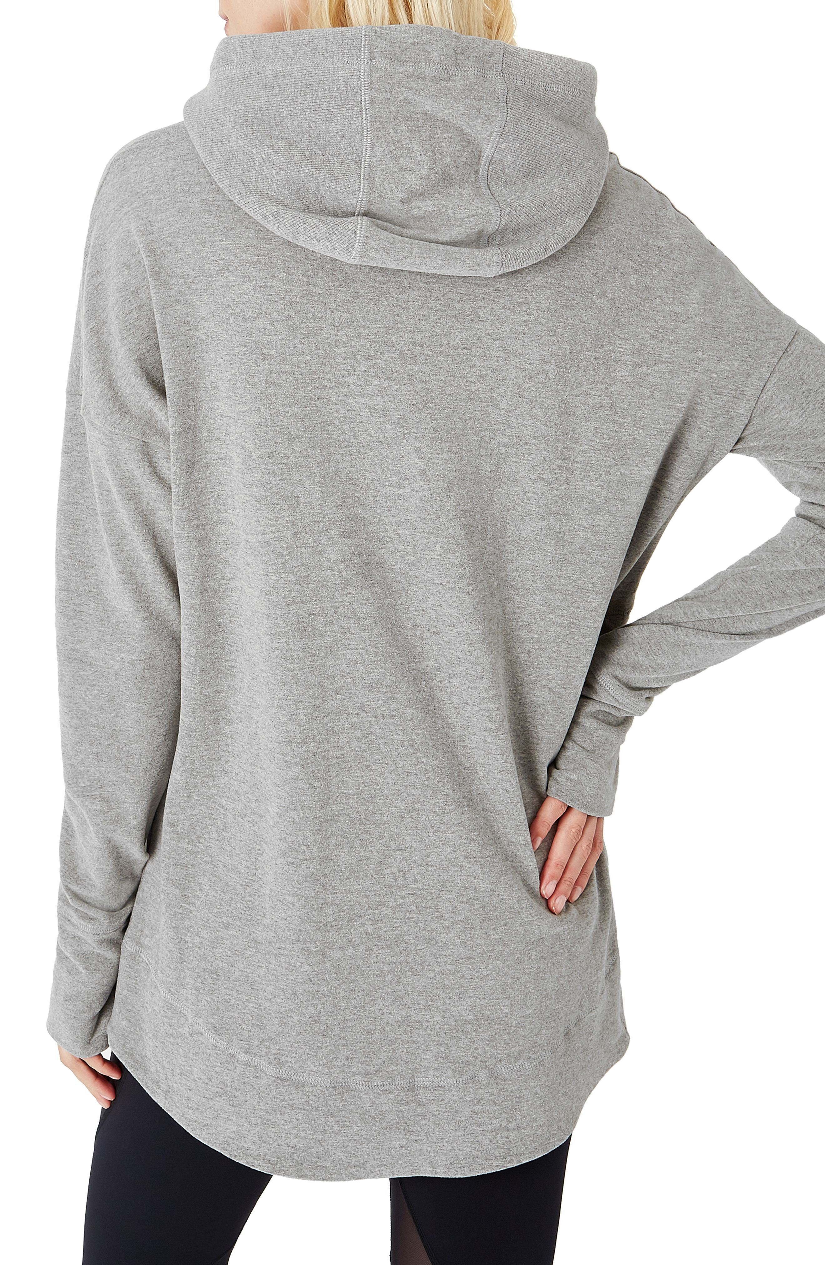 Invigorate Luxe Hoodie,                             Alternate thumbnail 2, color,                             LIGHT GREY MARL