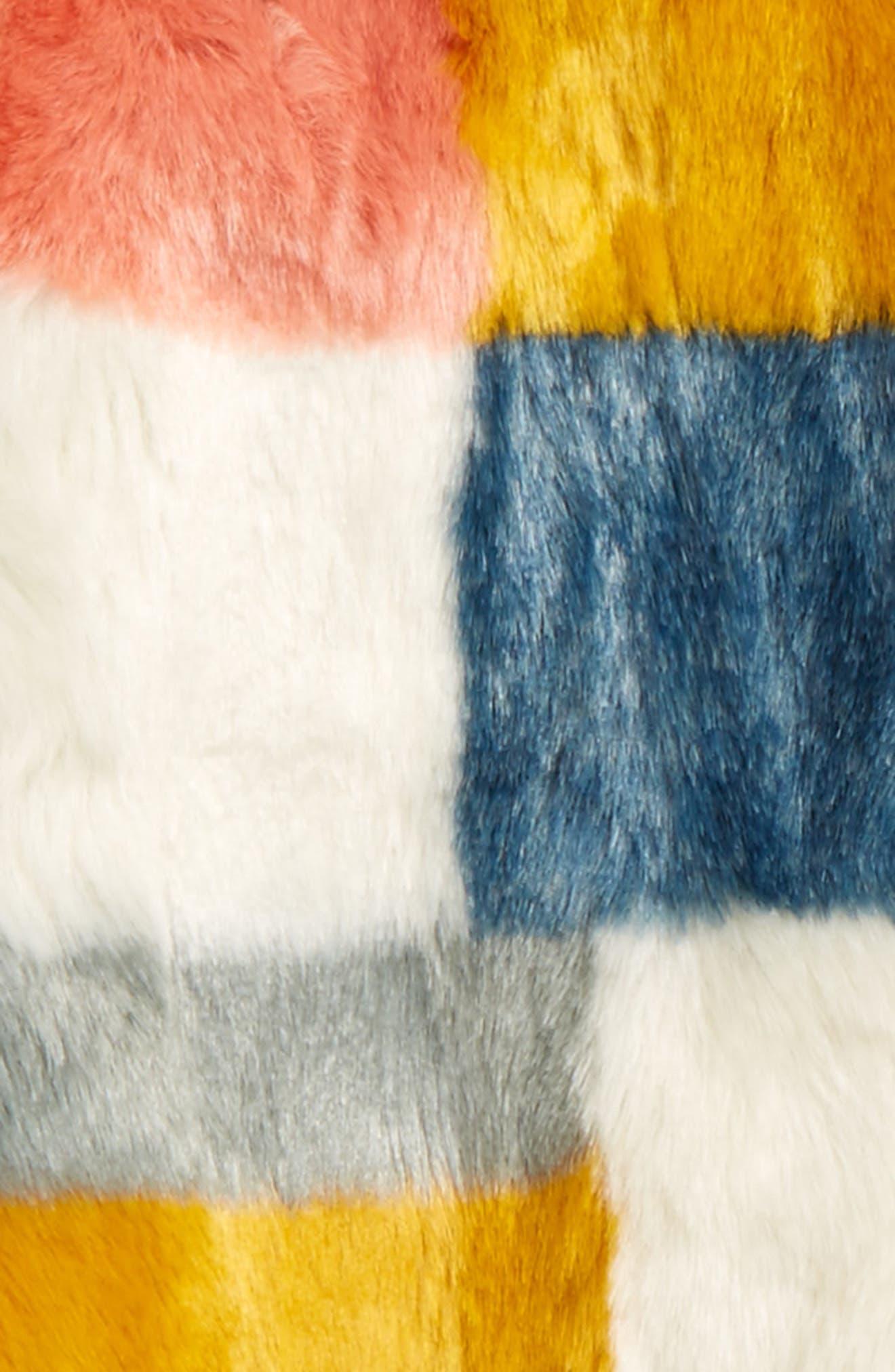 Abbie Faux Fur Colorblock Jacket,                             Alternate thumbnail 2, color,                             060