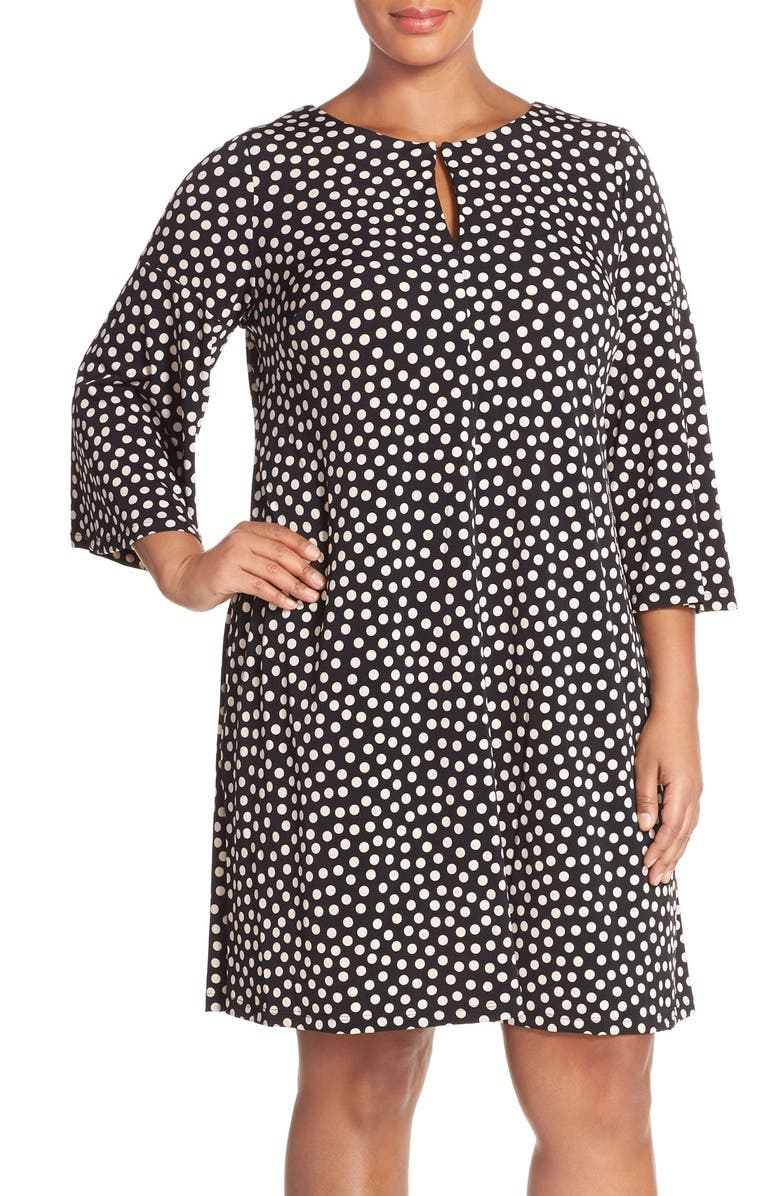 b6f871f706a Gabby Skye Print Elbow Sleeve Jersey Trapeze Dress (Plus Size ...