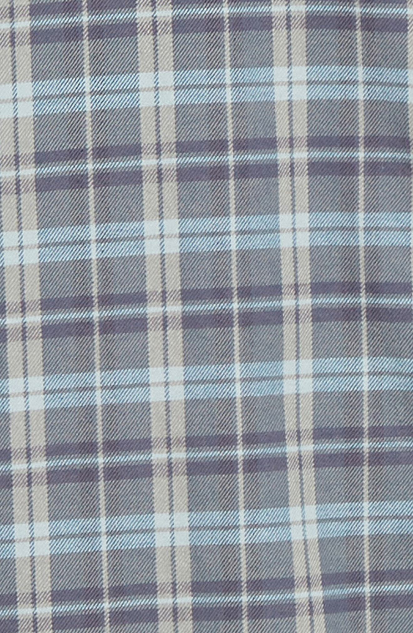Seaview Stretch Flannel Shirt,                             Alternate thumbnail 6, color,                             DARK BLUE GREY