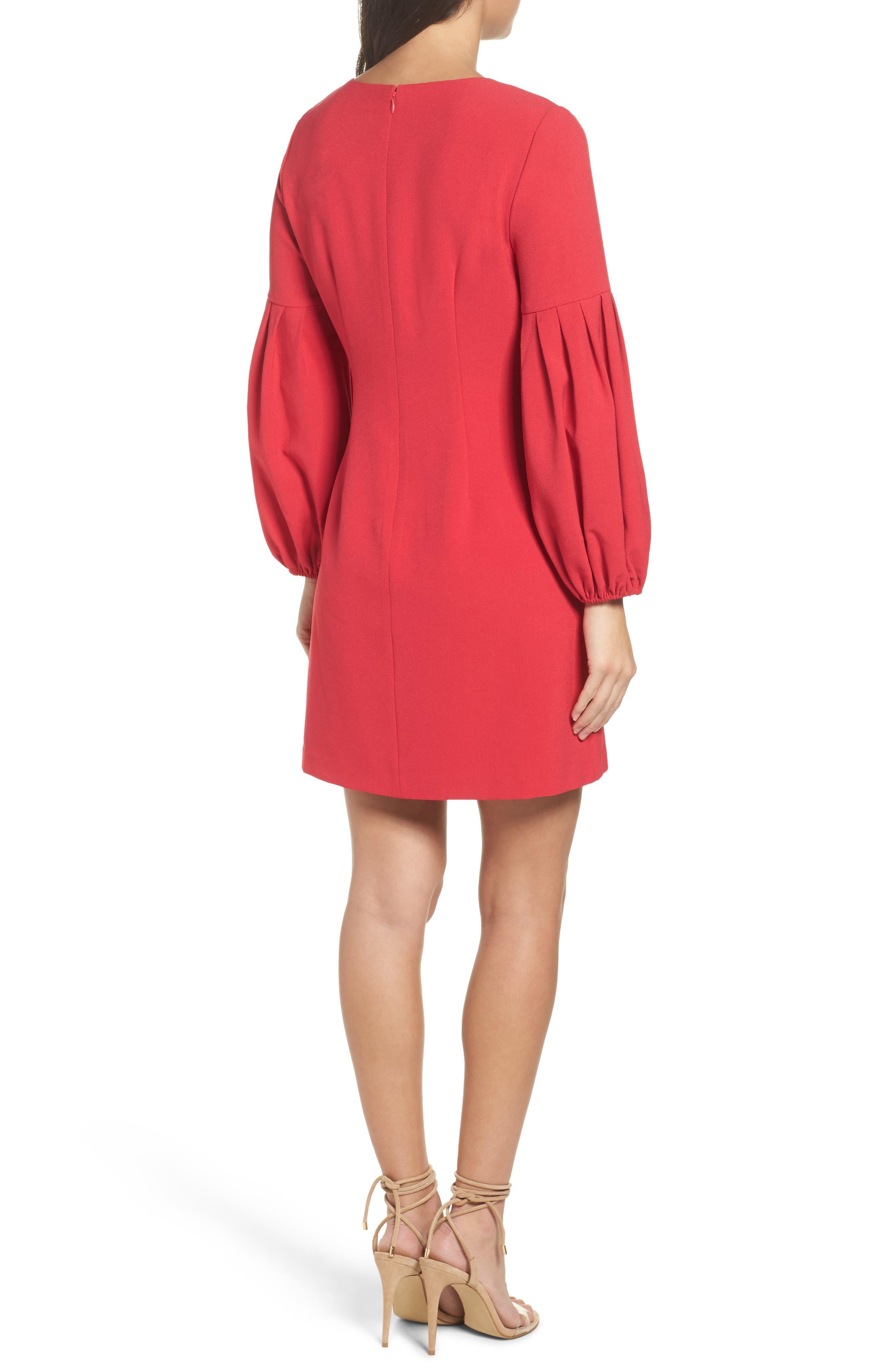 Bloused Sleeve Shift Dress,                             Alternate thumbnail 2, color,