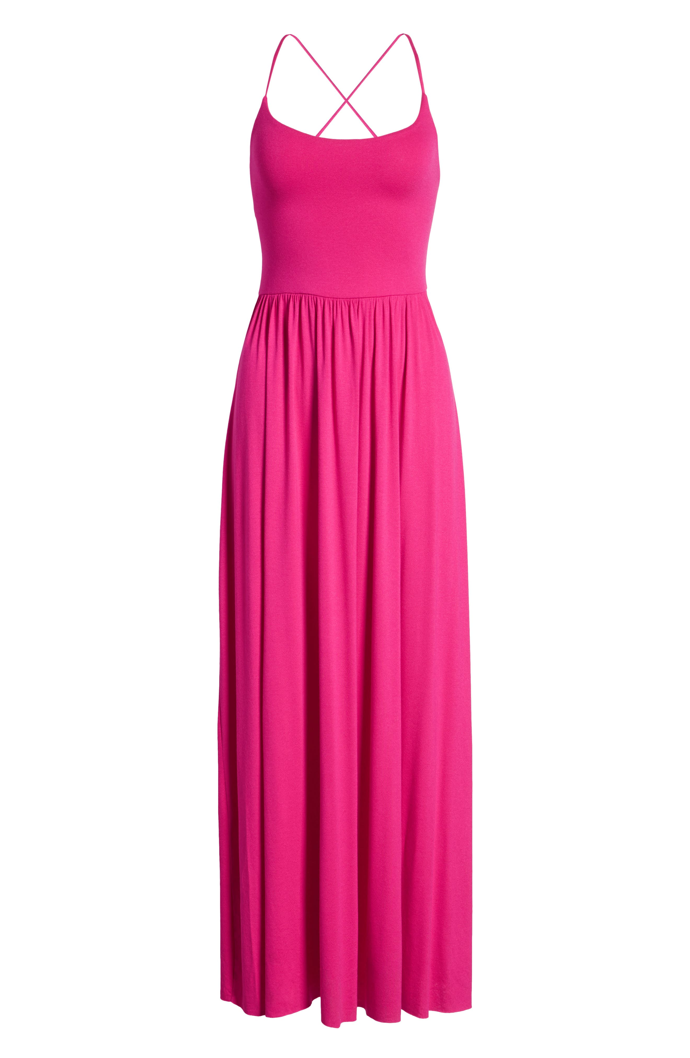 Strappy Back Maxi Dress,                             Alternate thumbnail 7, color,