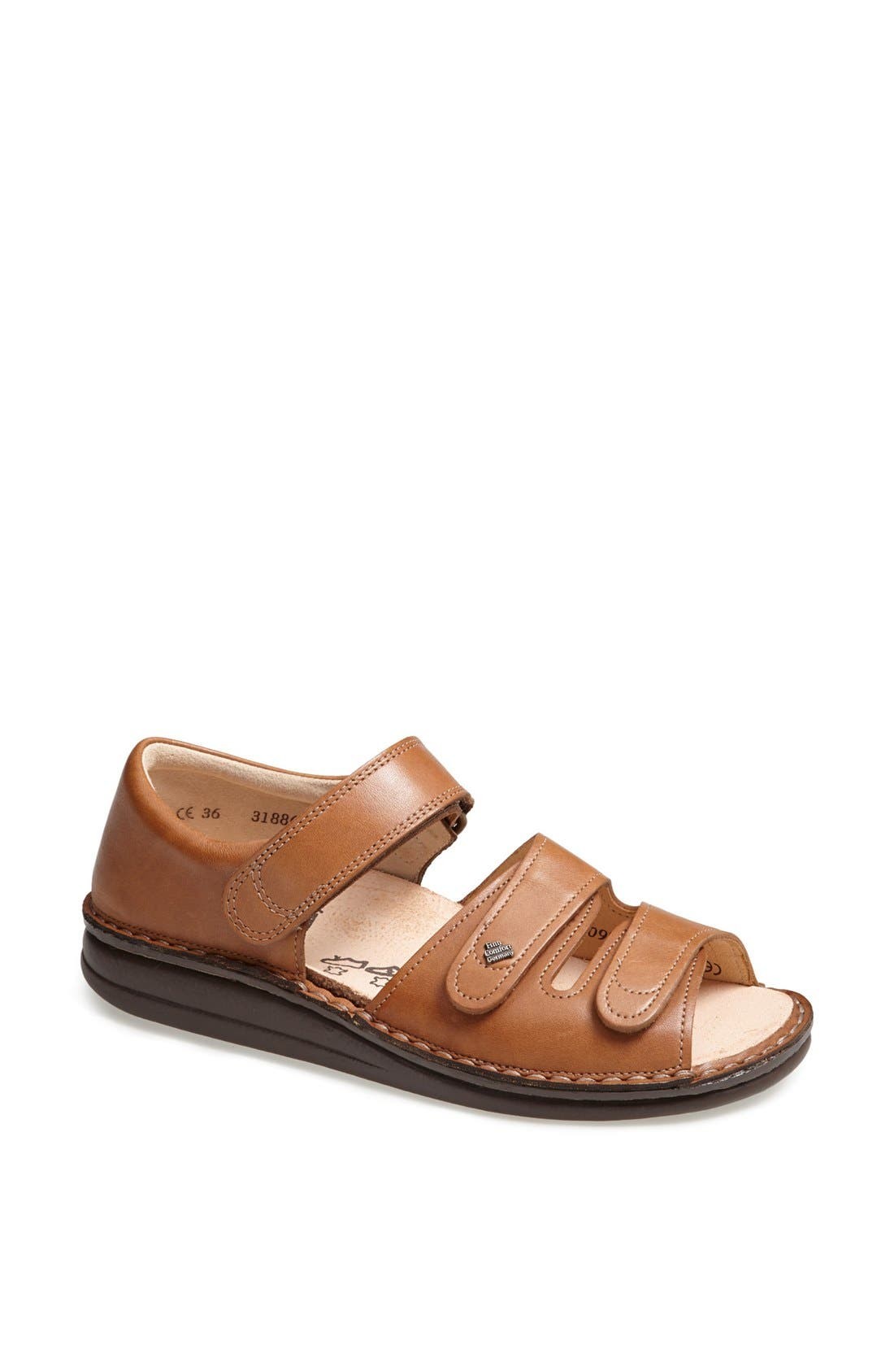 'Baltrum 1518' Leather Sandal,                         Main,                         color, NUT