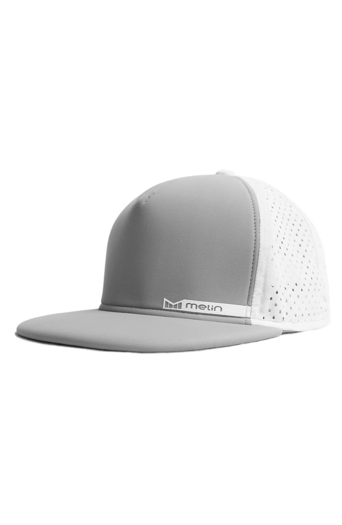 'Amphibian' Split Fit Snapback Baseball Cap,                         Main,                         color, LIGHT GREY