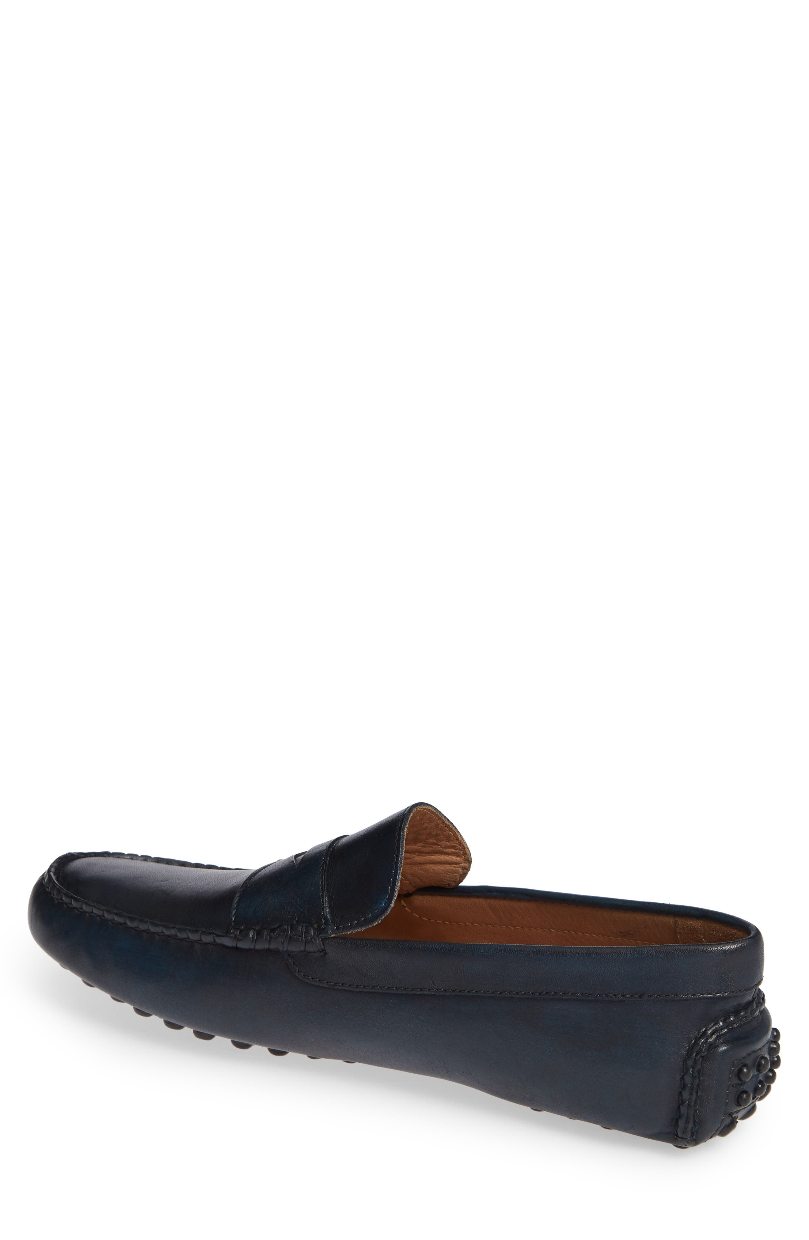 Eaton Driving Shoe,                             Alternate thumbnail 2, color,                             NAVY LEATHER