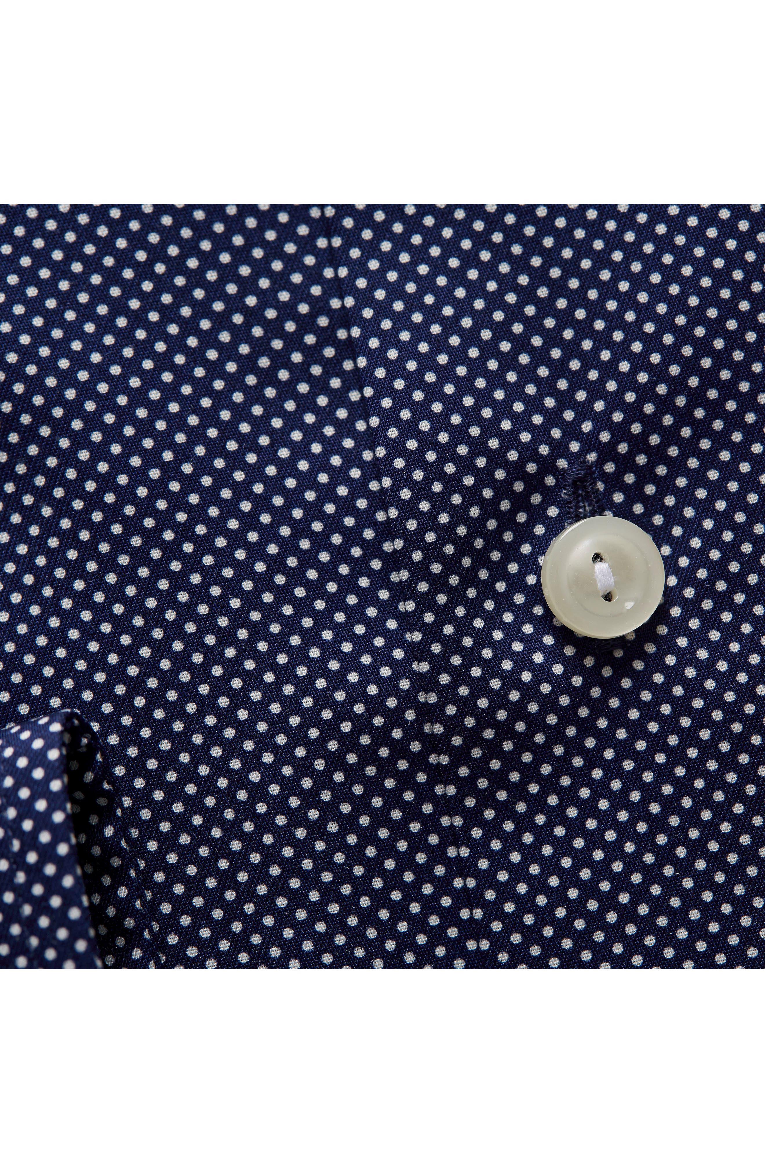 Contemporary Fit Signature Polka Dot Dress Shirt,                             Alternate thumbnail 2, color,                             BLUE