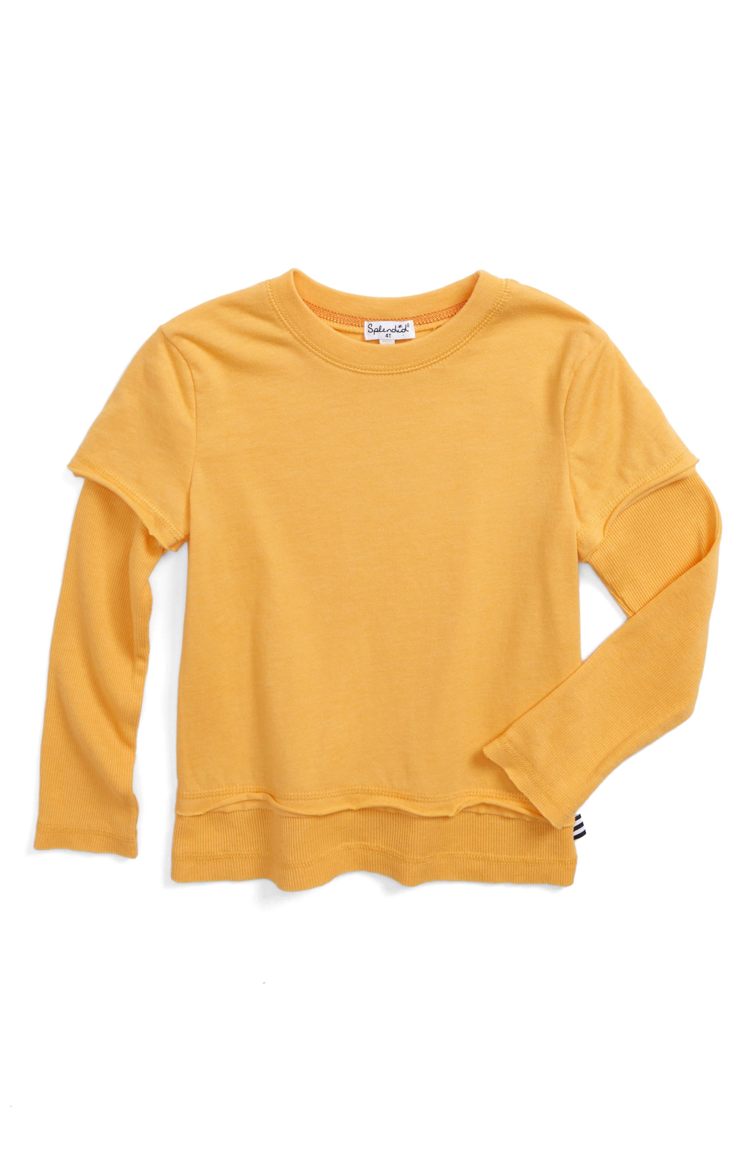 Layered T-Shirt,                         Main,                         color, 720